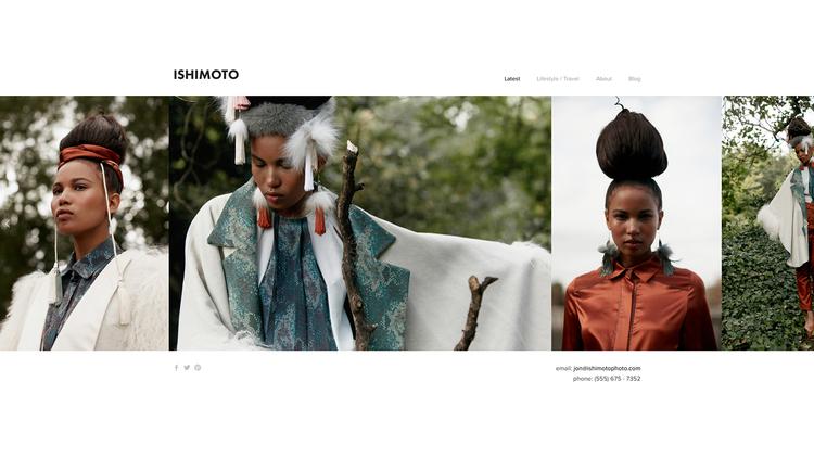 Ishimoto is een eenmalige template met een eenmalige naam. Het is een portfolio template met een vernieuwende horizontale gallerij slider, waardoor het de voorkeur heeft bij fotografen, artiesten en restaurants