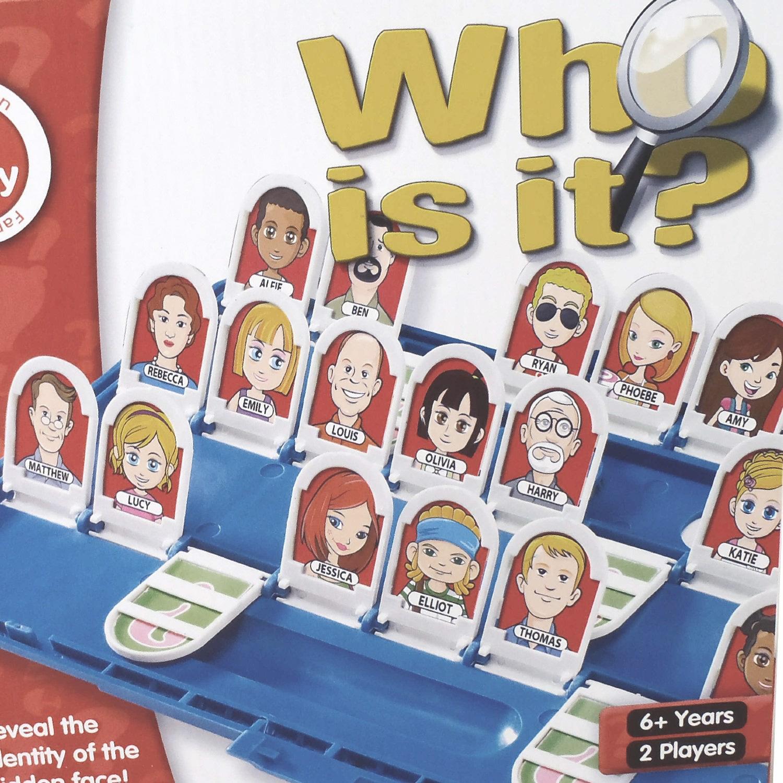 Vergelijk het met het spelletje van vroeger: 'Wie is het?