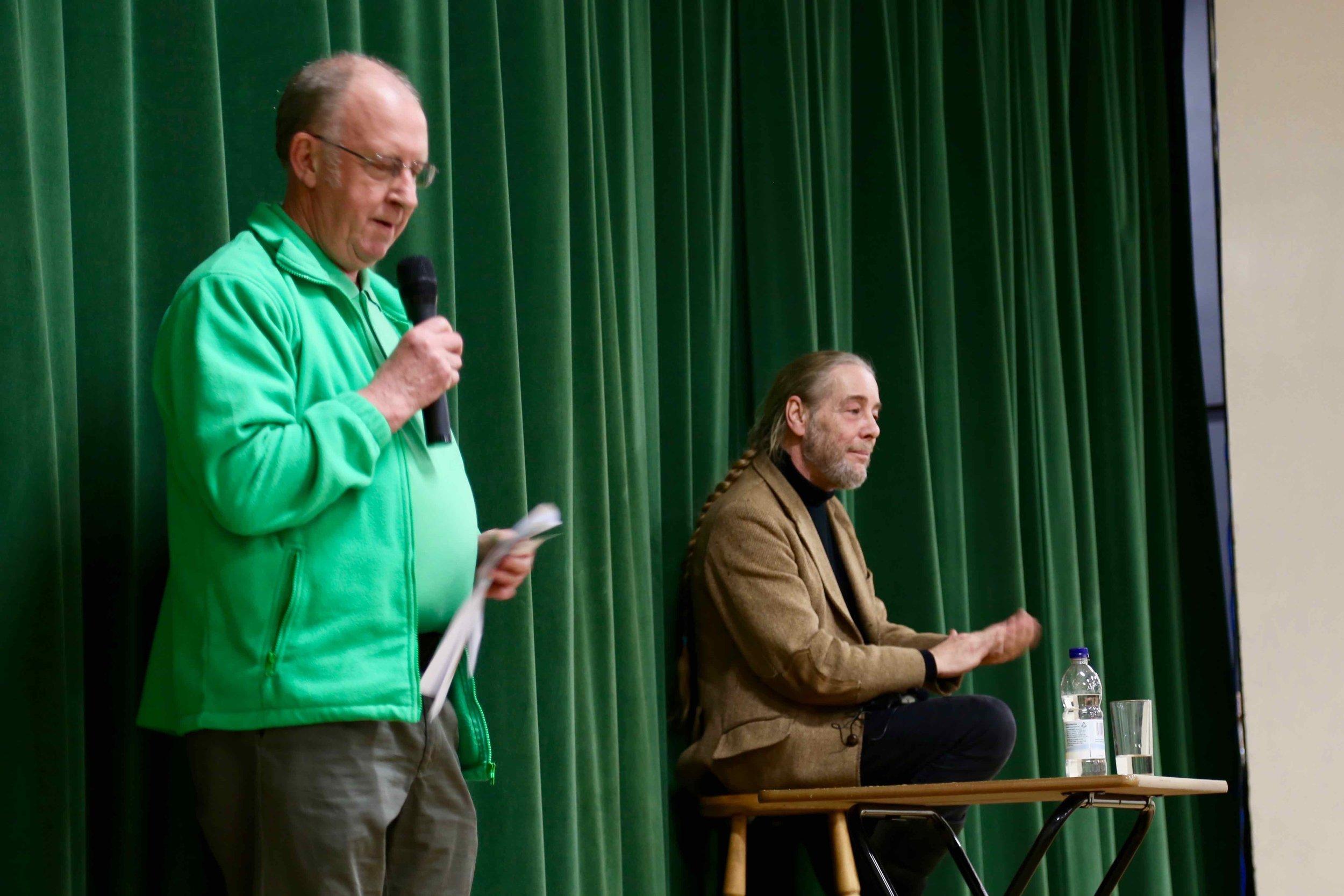 John Whiteley proposes the thanks