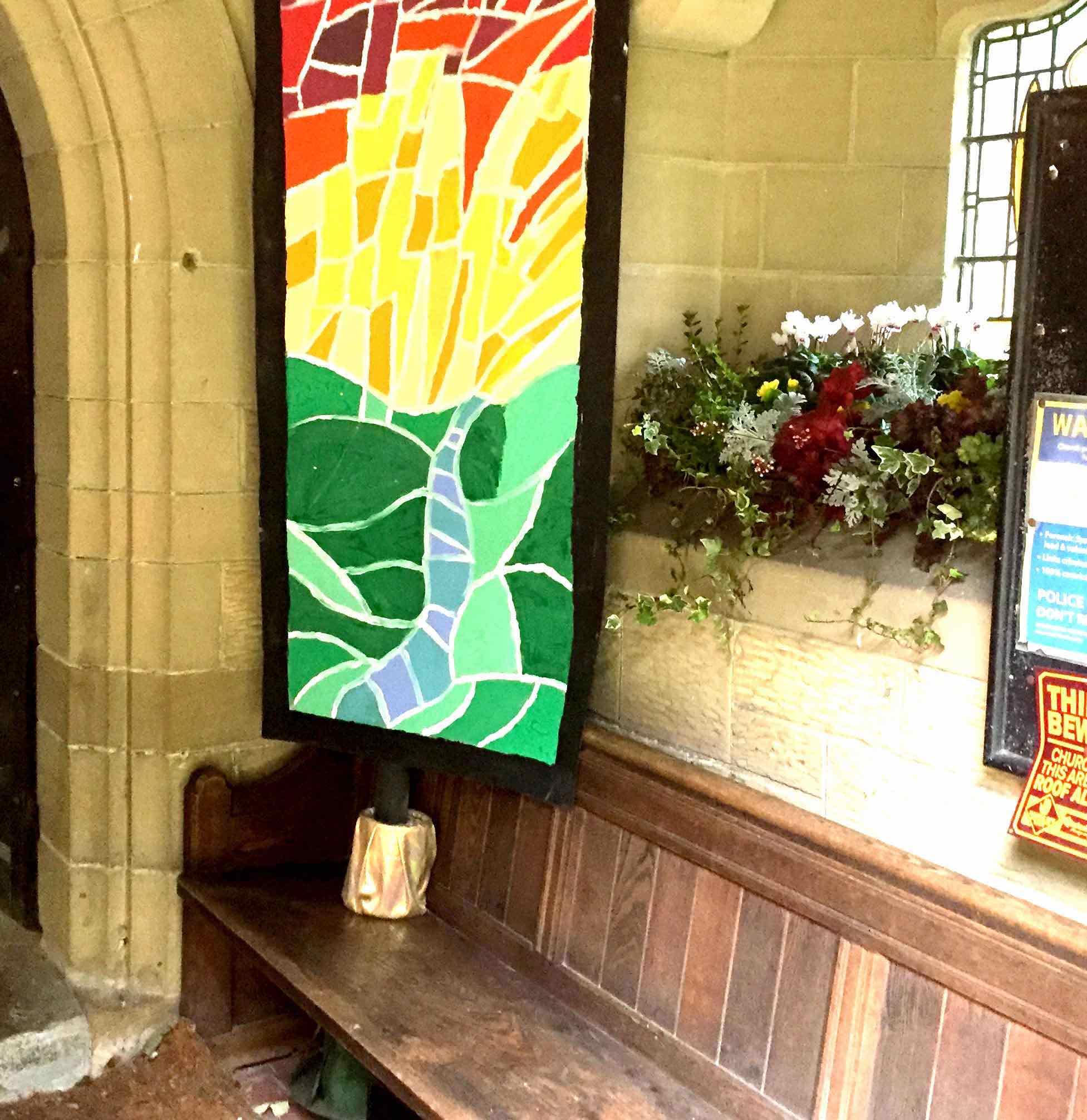 Window display in the Church