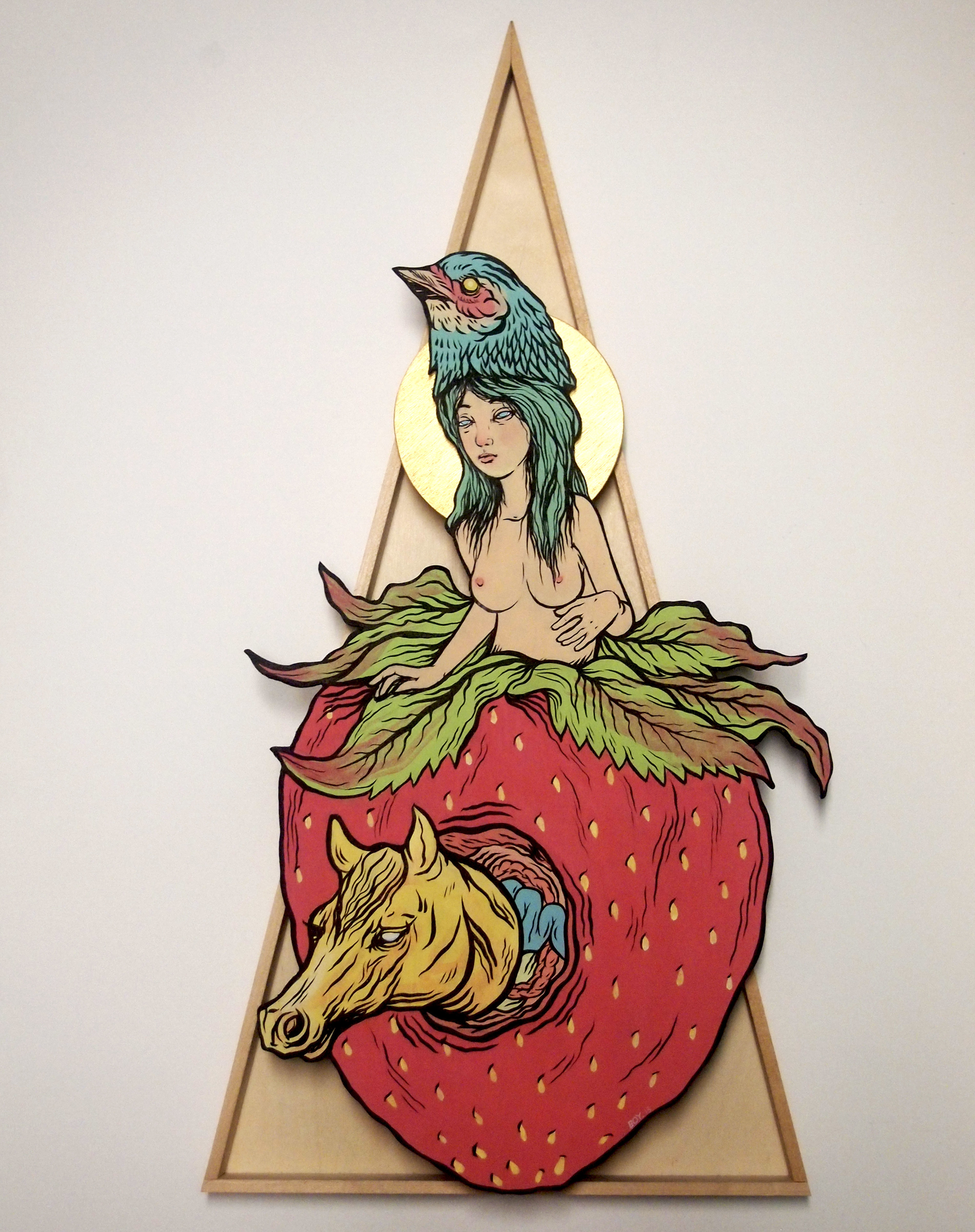 Fruits of Joy , 2013 [private collection NY, NY] Acrylic on Wood 10 x 13 x 3 in.