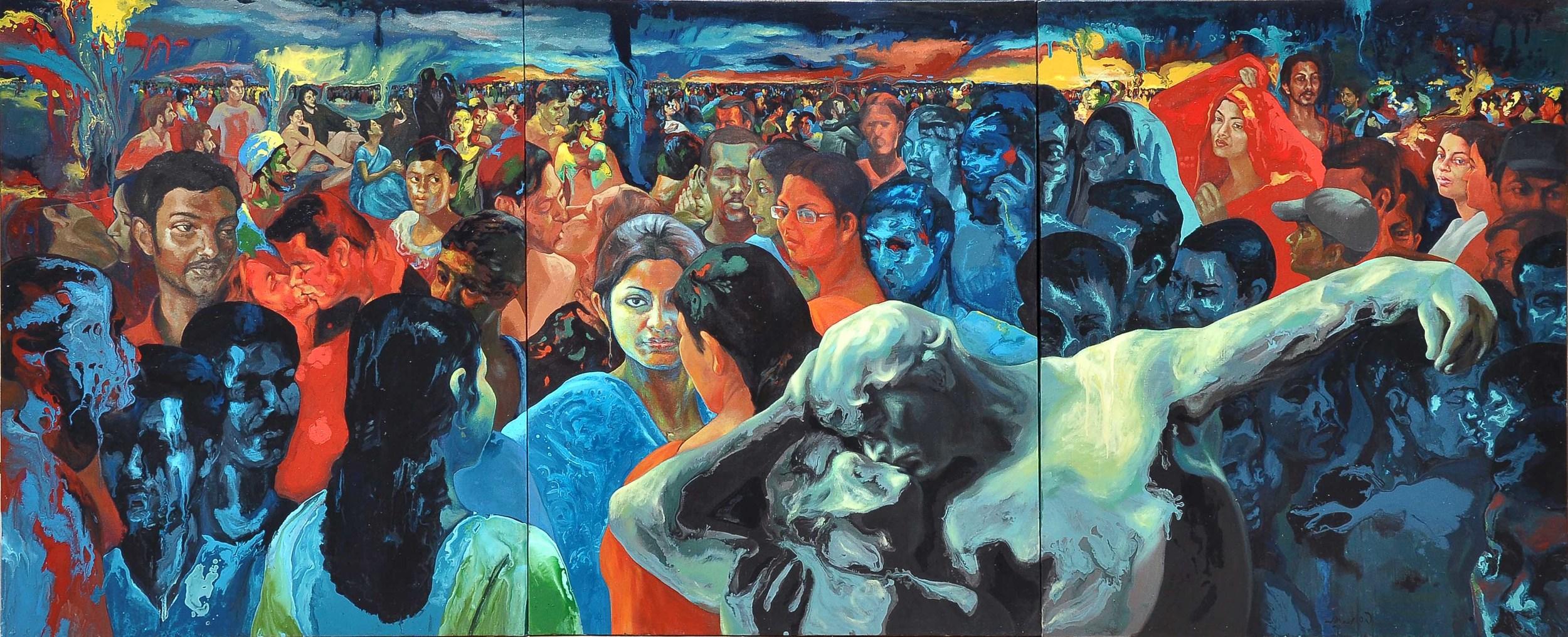 Natasha , 2009 Acrylic on Canvas 60 x 144 in.