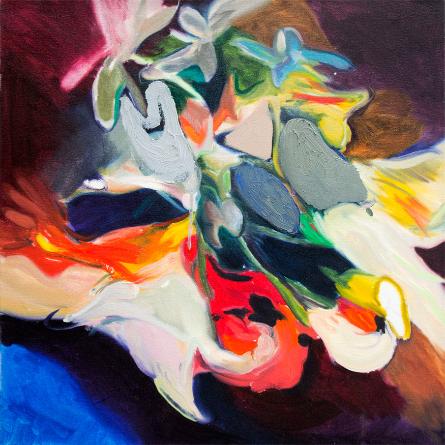 Whole is a Hand That Shakes,  2013  Oil on Canvas  24 x 24 in.