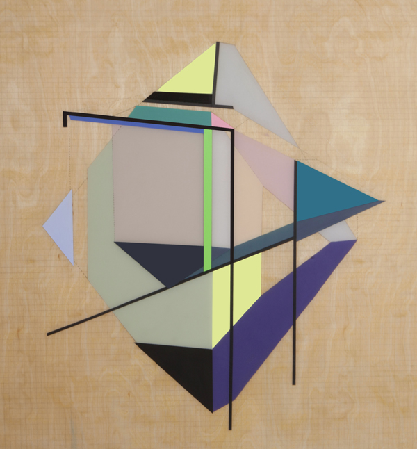 Grid Origami #1 , 2014   Mixed Media on Wood   30 x 30 in.