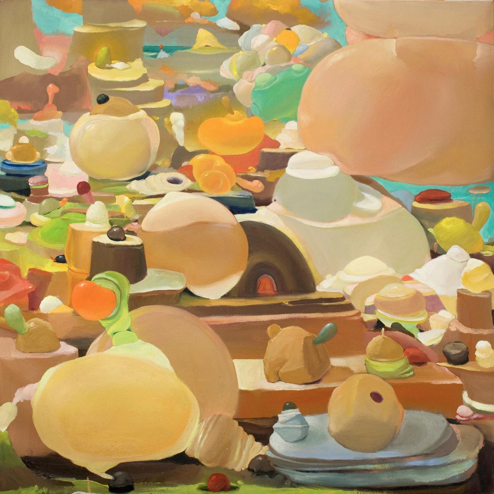 Fertile Voids   ,  2015   OIl on Canvas   36 x 36in.
