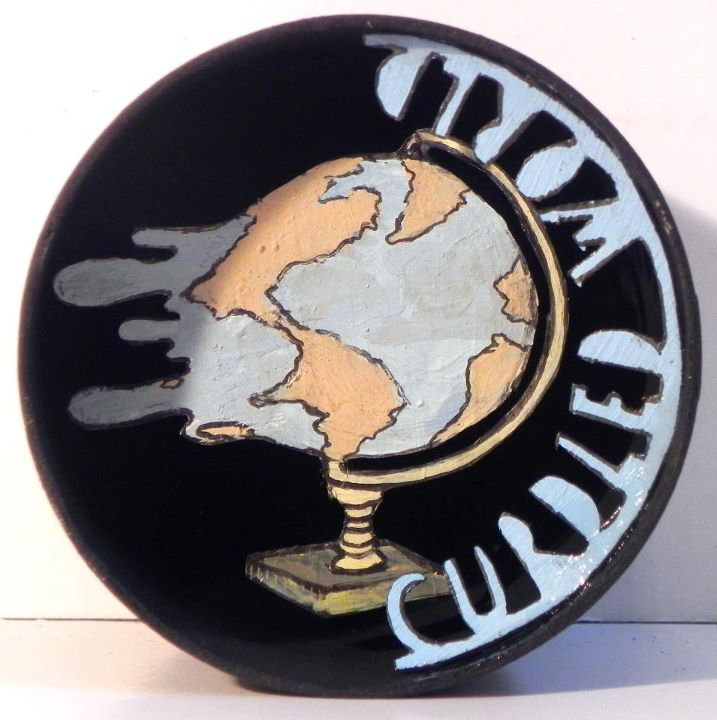 Curdled World , 2010-2011    [private collection NY  , NY]   Mixed Media  ??