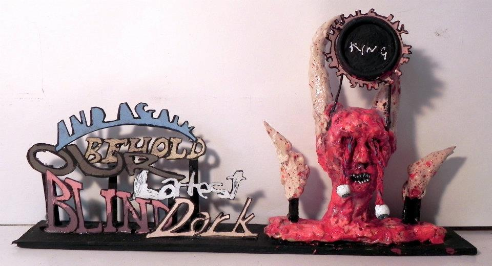 Latest Blind Dark King  ,   2011-2012   Mixed Media   7 1/2 x 4 1/4 in.