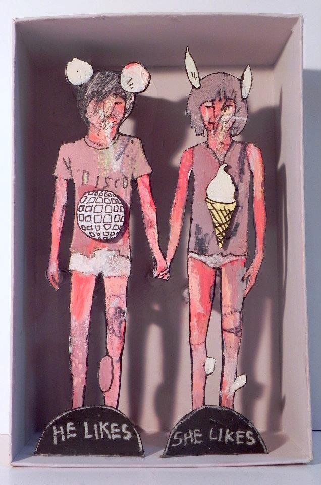 He Likes Disco,She Likes Ice Cream  , 2010/2011   [private collection NY  , NY]   Mixed Media