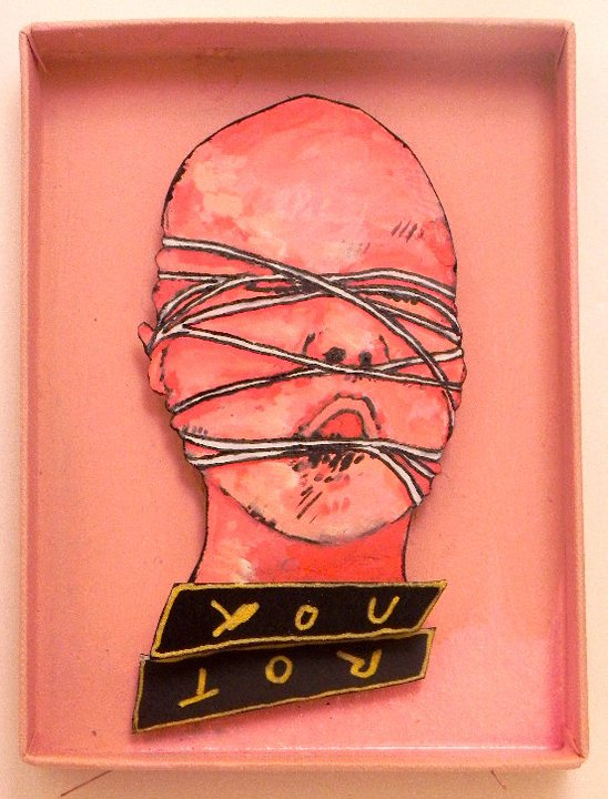You Rot  ,   2011   Mixed Media   3 5/8 x 4 7/8 in