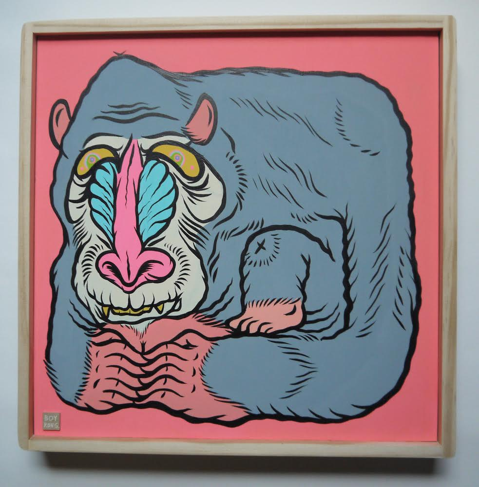 Pink Butt , 2014 [private collection NY, NY] Acrylic on Wood 12 x 12 in.