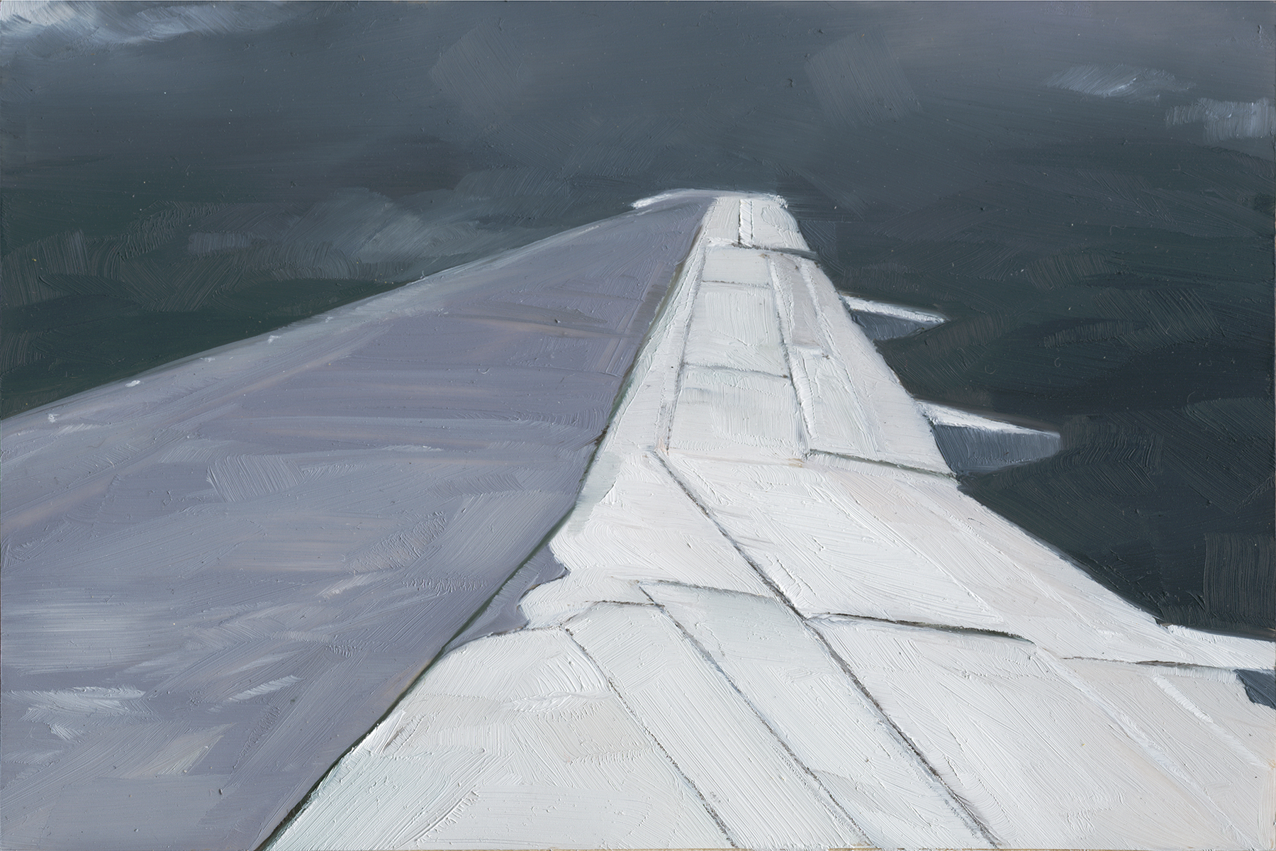 Airplane  , 2010   Oil on Mylar on Wood   4 x 6 in.