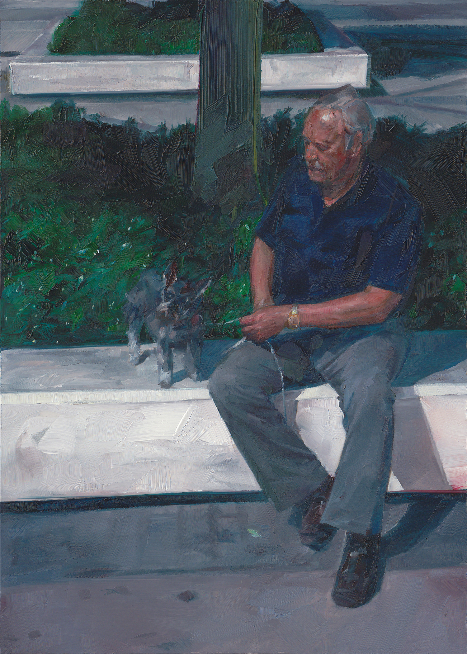 Alf and Heidi  , 2012   Oil on Mylar on Panel   7 x 5 in.