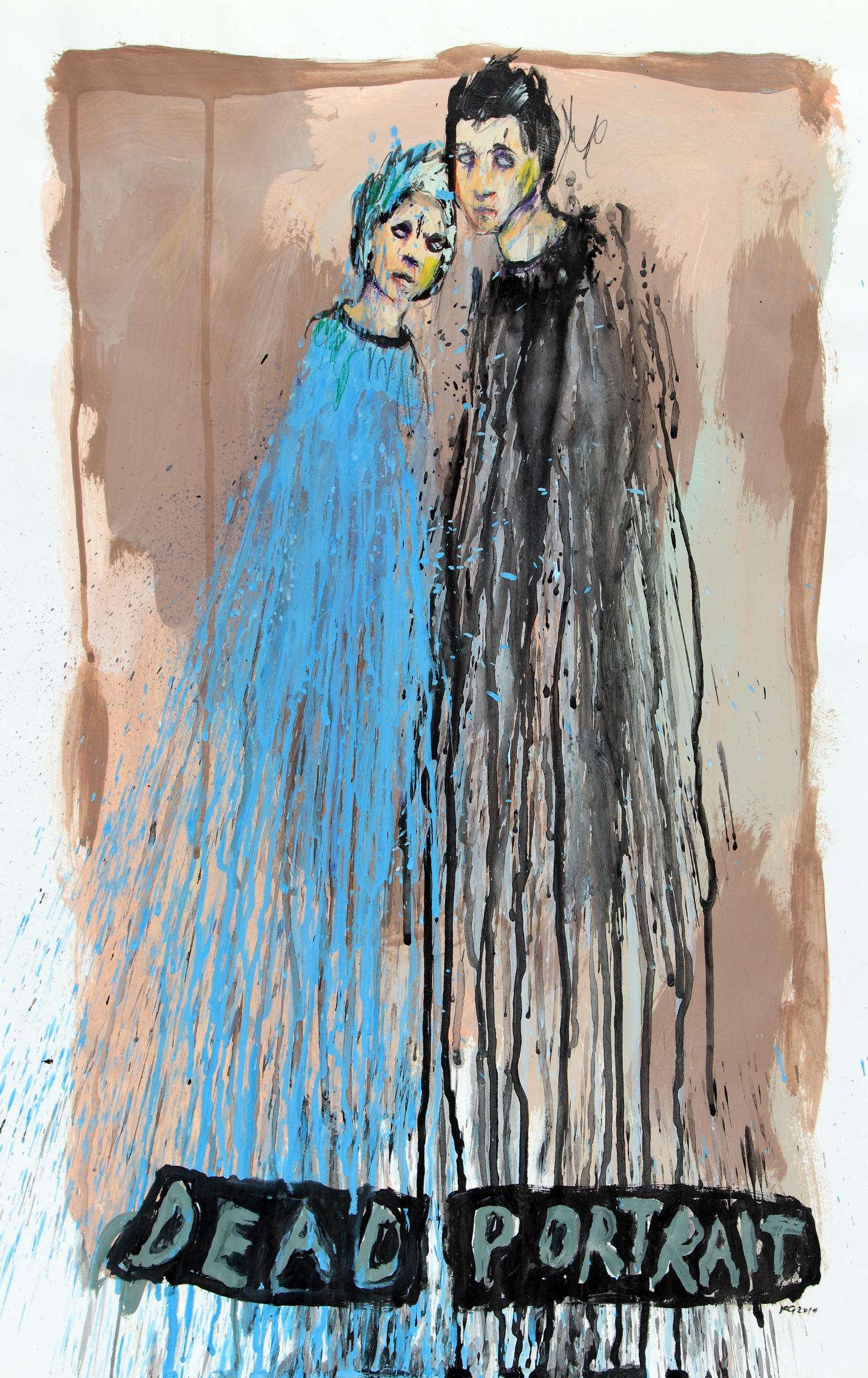Dead Portrait,  2014  Acrylic on paper 16 1/2 x 23 1/4 in.