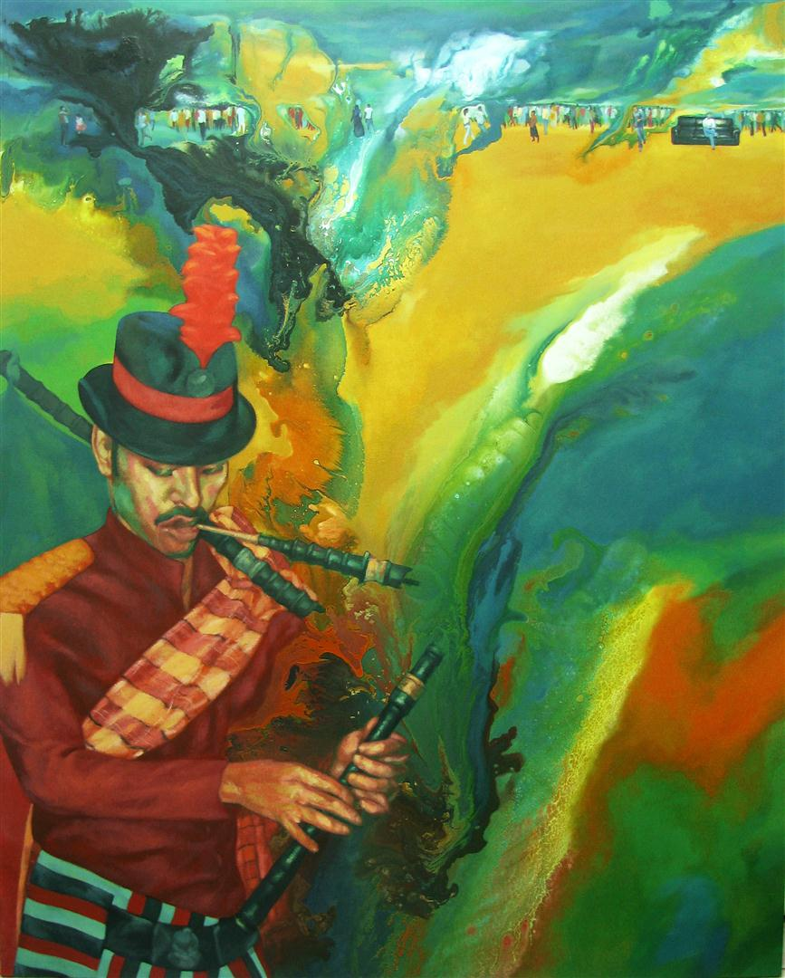 The Musician , 2011   [private collection Riverdale  , NY]   Acrylic on Canvas   60 x 48 in.
