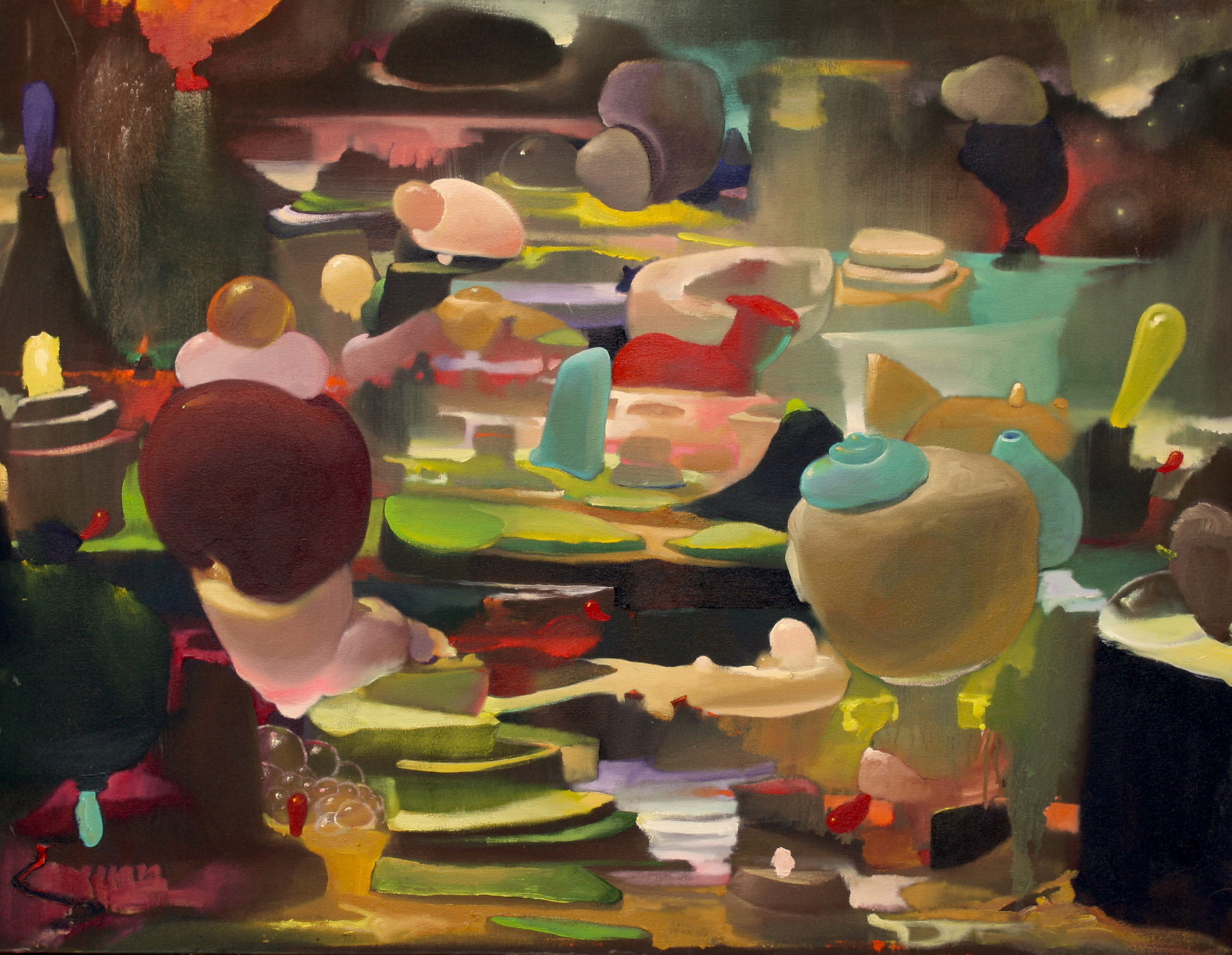 Furtive Articles   ,  2015   OIl on Canvas   33 x 43 in.