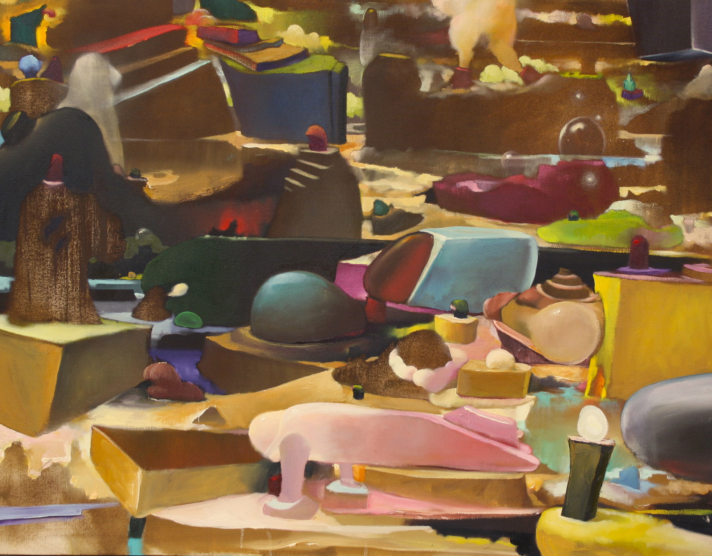 Remnants   ,  2015   OIl on Canvas   33 x 43 in.