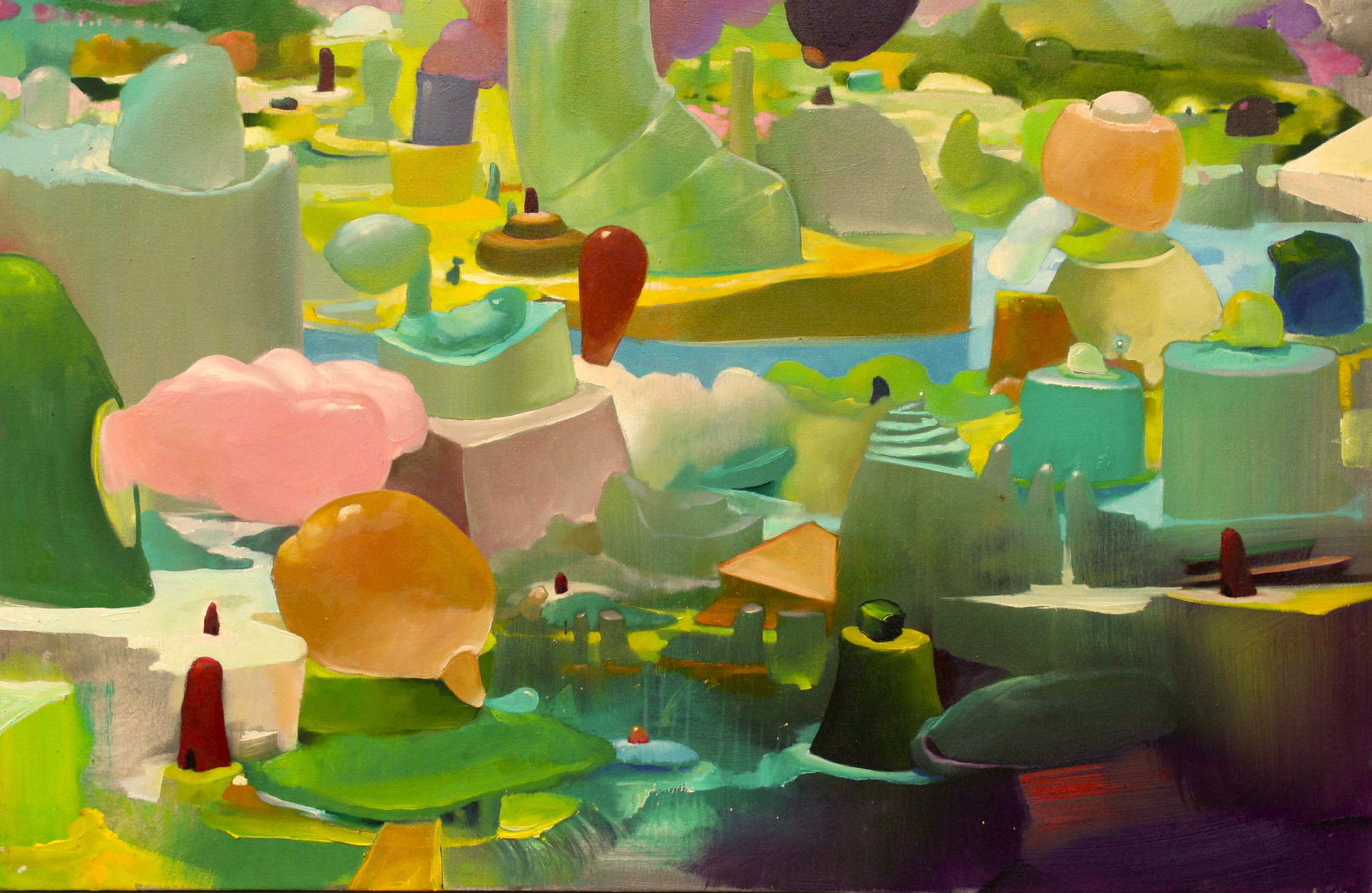 Estuaries   ,  2015   OIl on Canvas   30 x 46 in.