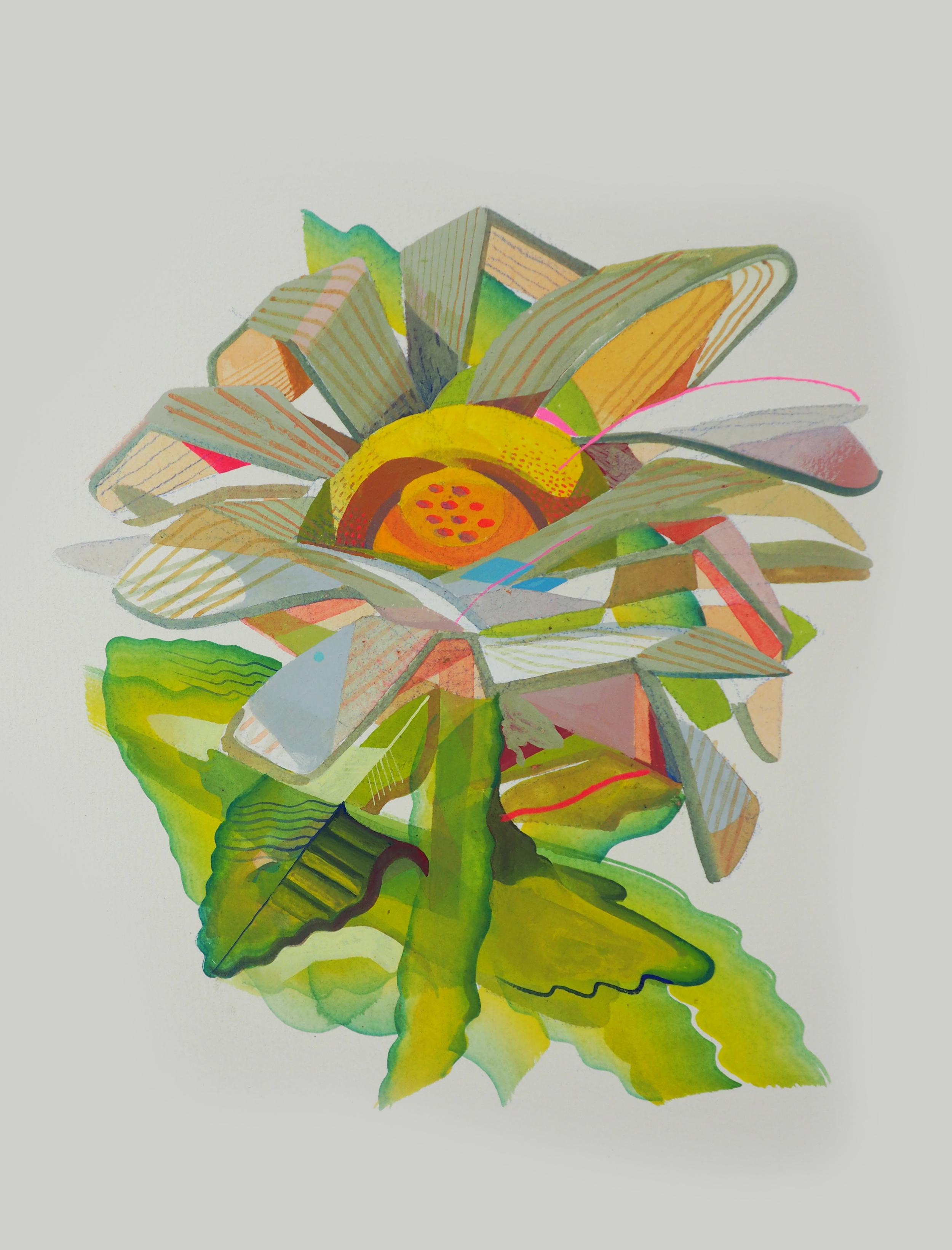 DAI , 2016 [private collection Tel Aviv, Israel] Gouache, Watercolor on Arches 300 lb. 10 x 8 in.
