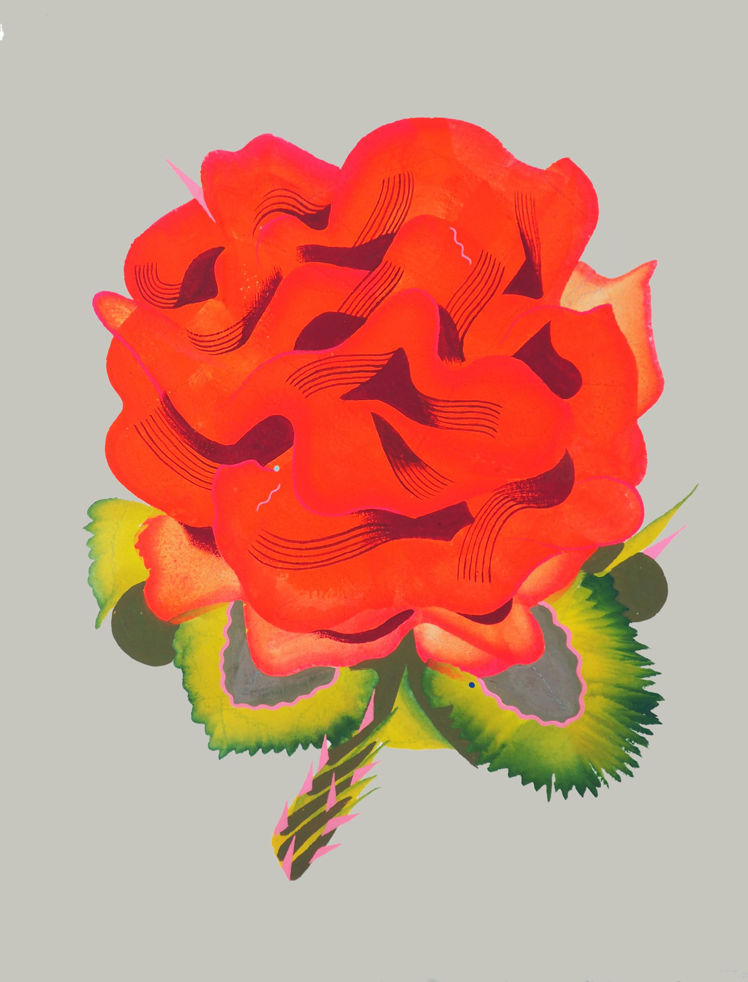 ROS , 2016 [private collection Miami, FL] Gouache, Watercolor on Arches 300 lb. 10 x 8 in.