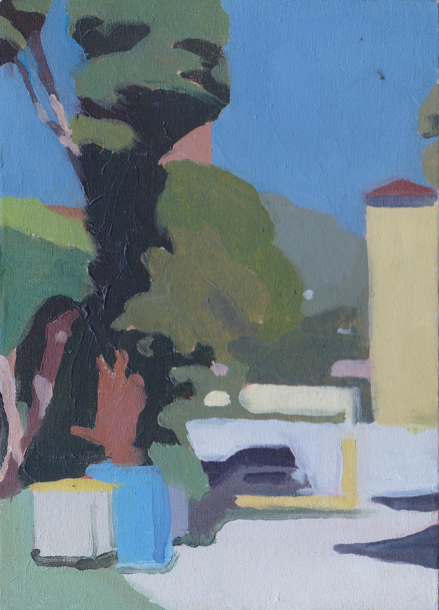 Viale dei cipressi , 2015 Oil on Panel 7 x 5 in.