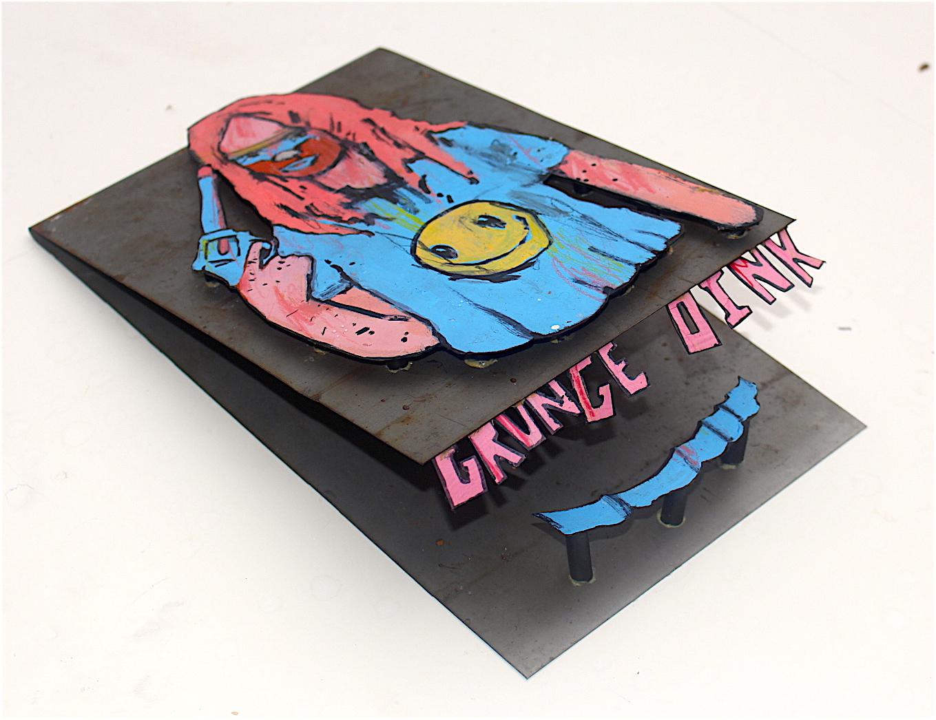 Grunge Oink [detail]
