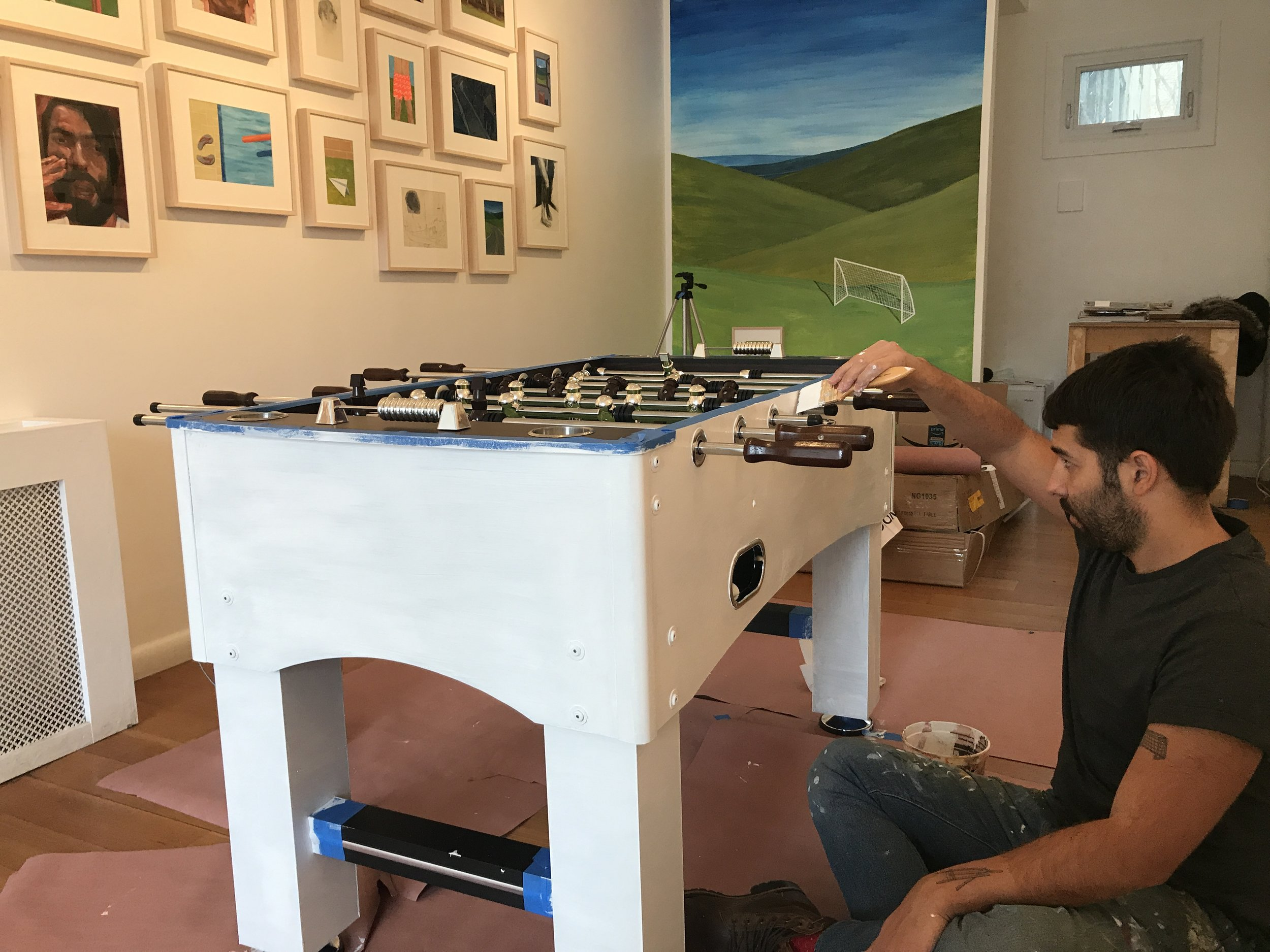 Click for info about Esteban's custom Foosball Table