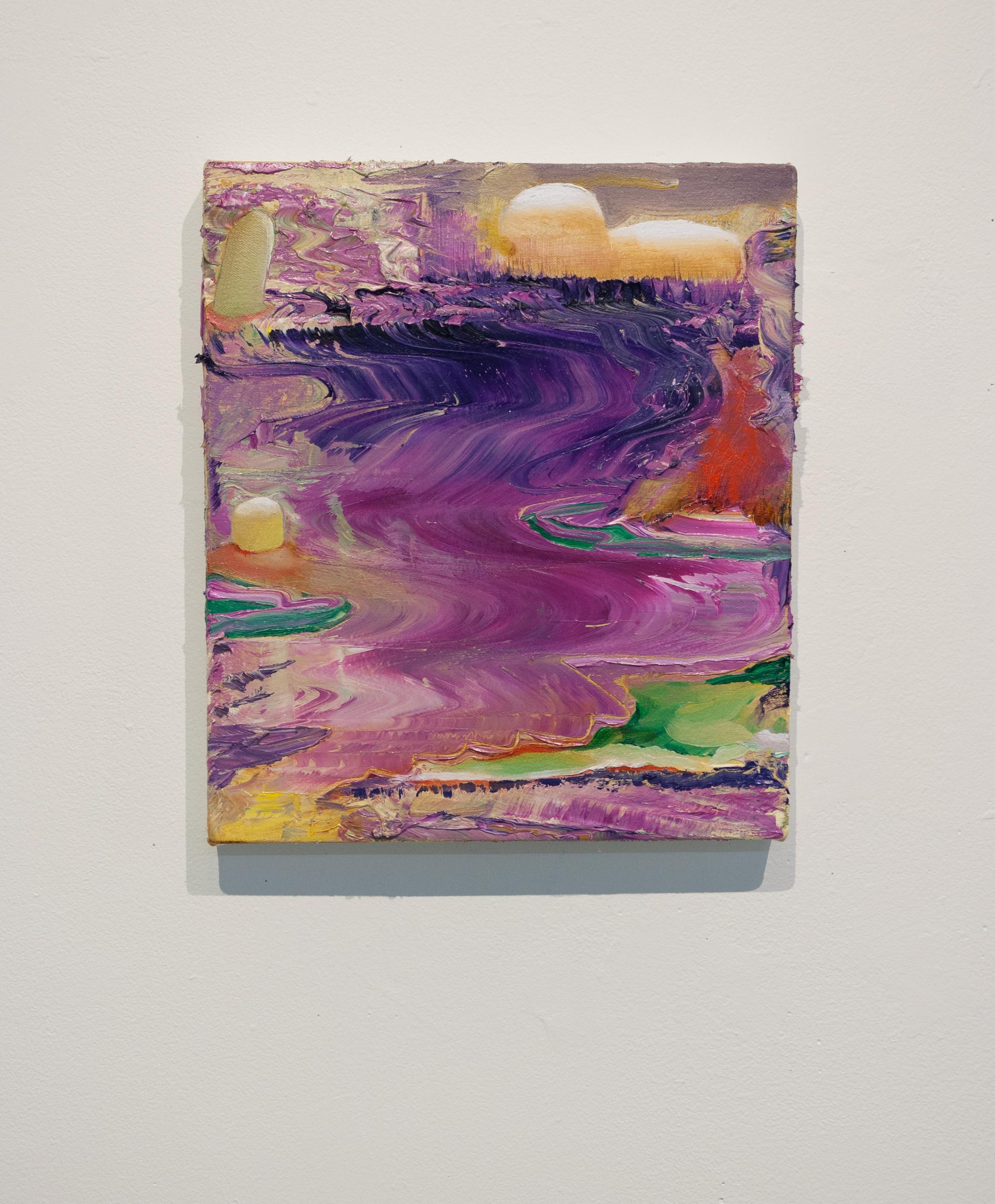 Amaranthine Flows | 2018 | oil on canvas | 14 x 12 in.