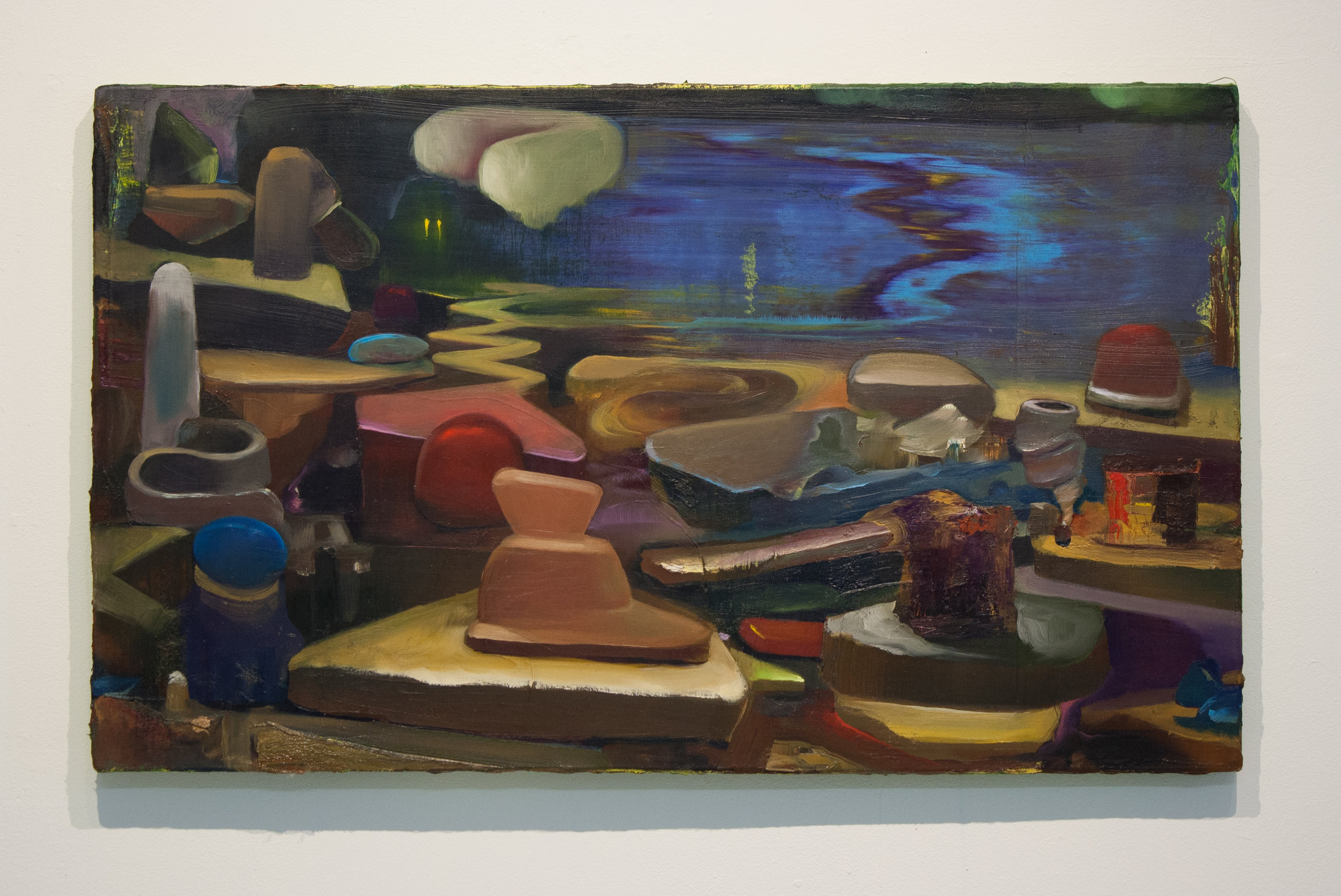 Conor Fagan | Briny Fete | 2017 | oil on canvas | 22.5 x 37.5 in.