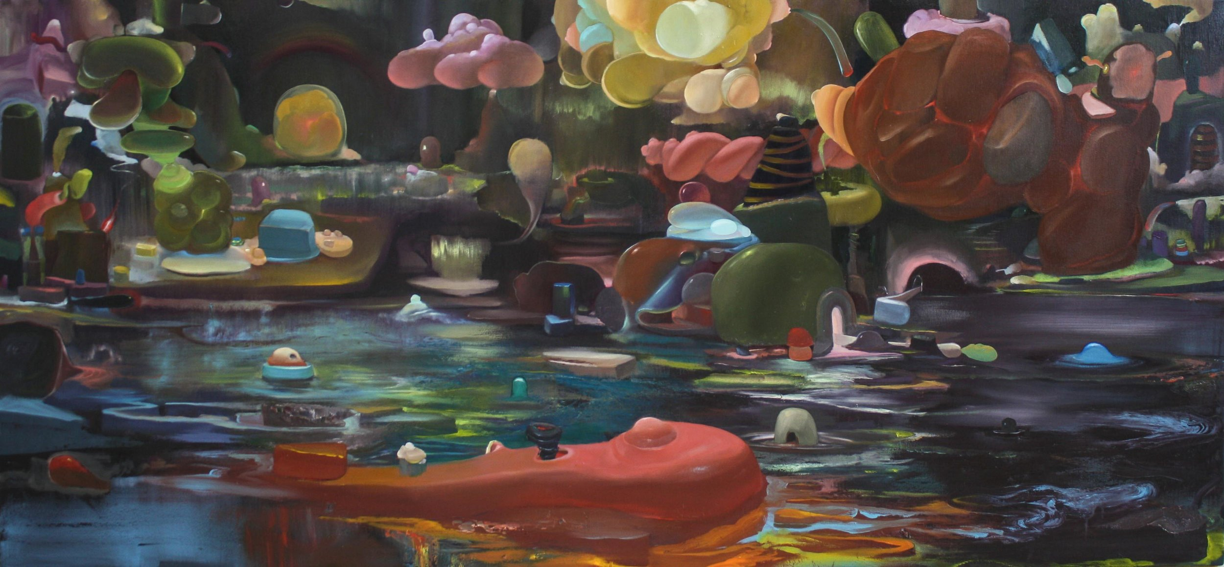 The Afterwinds   2017   oil on canvas   44 x 95 in.