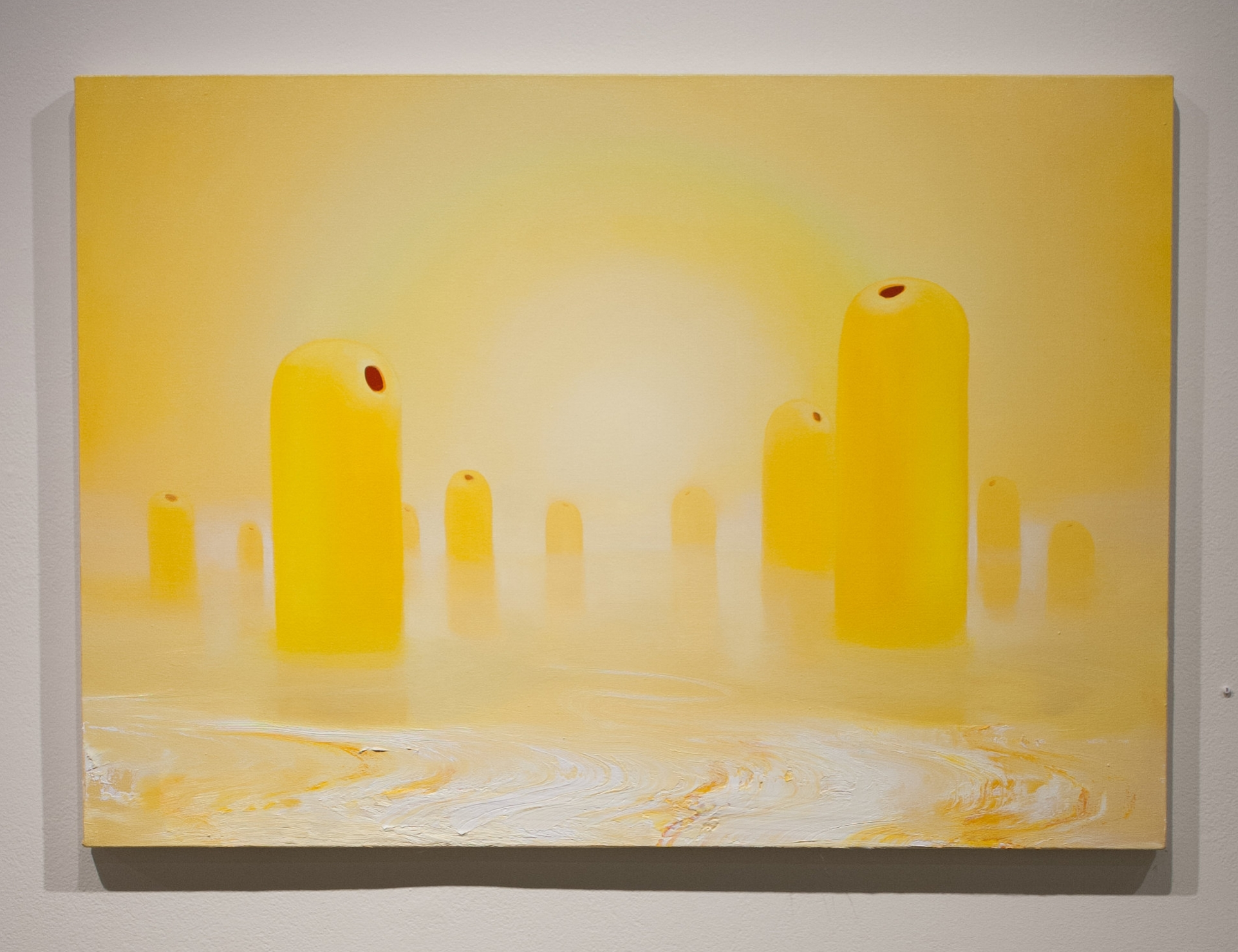 Conor Fagan   Menhir   2018   oil on canvas   31 x 44 in.
