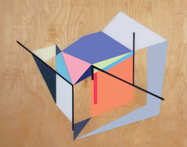 Zin Helena Song   Grid Space #1   2014   Mixed Media on Wood   24 x 30 in.