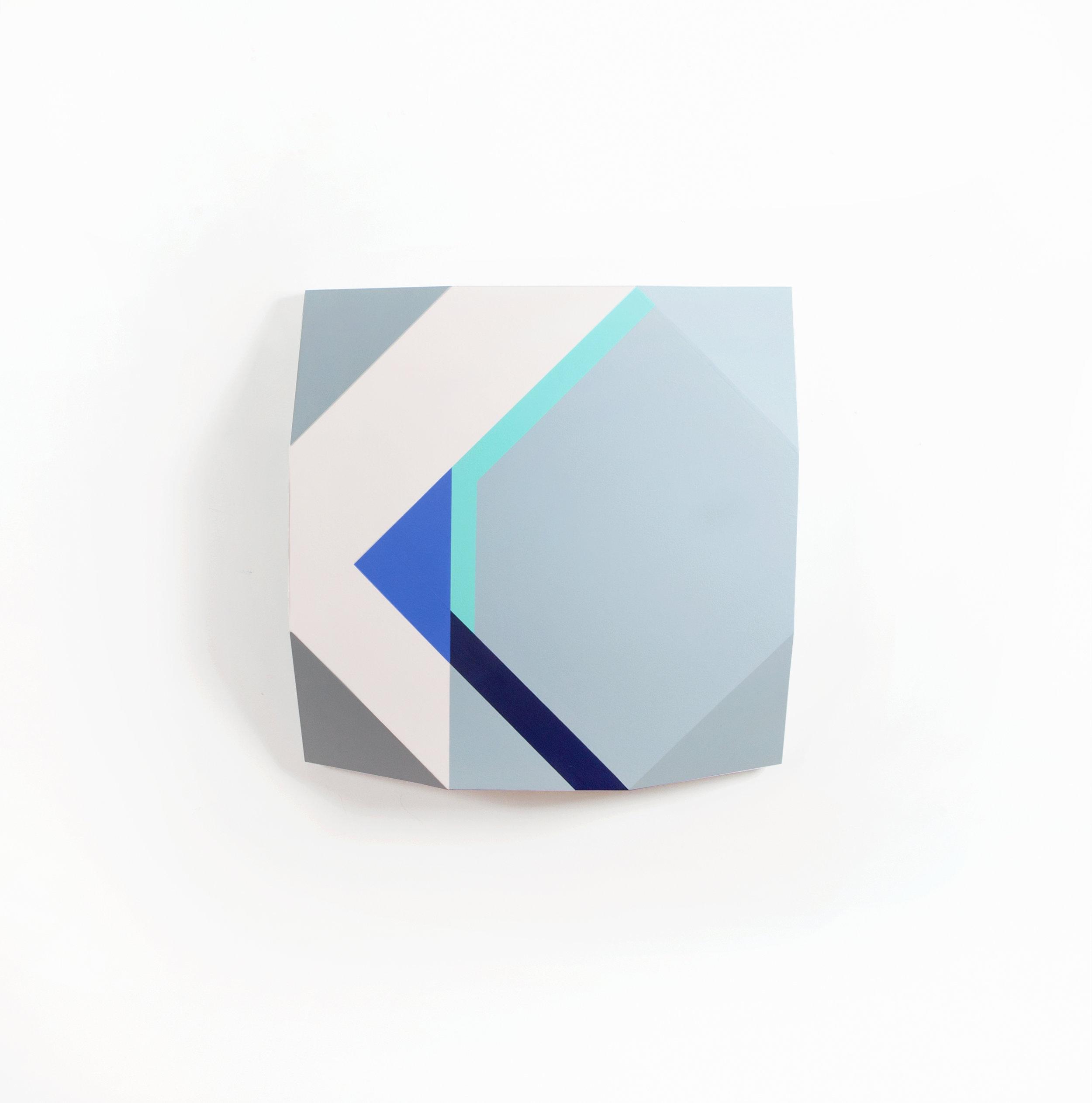 Zin Helena Song   Origami 1 #41   2015   Mixed Media on Wood   20 x 20 x 6 in.