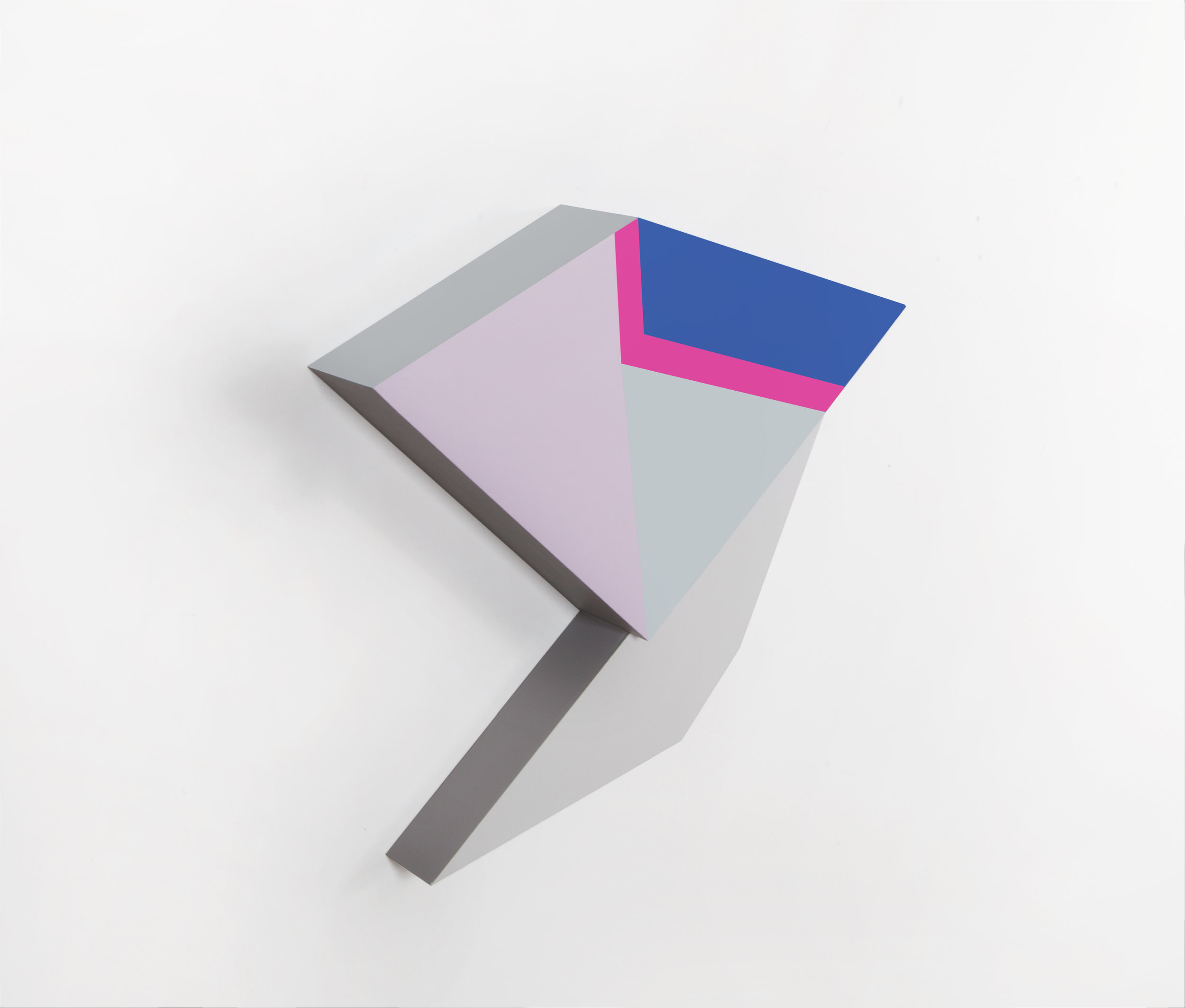 Zin Helena Song   Polygon in space #30   2015   Mixed Media on Wood   28 x 21 x 4 in.