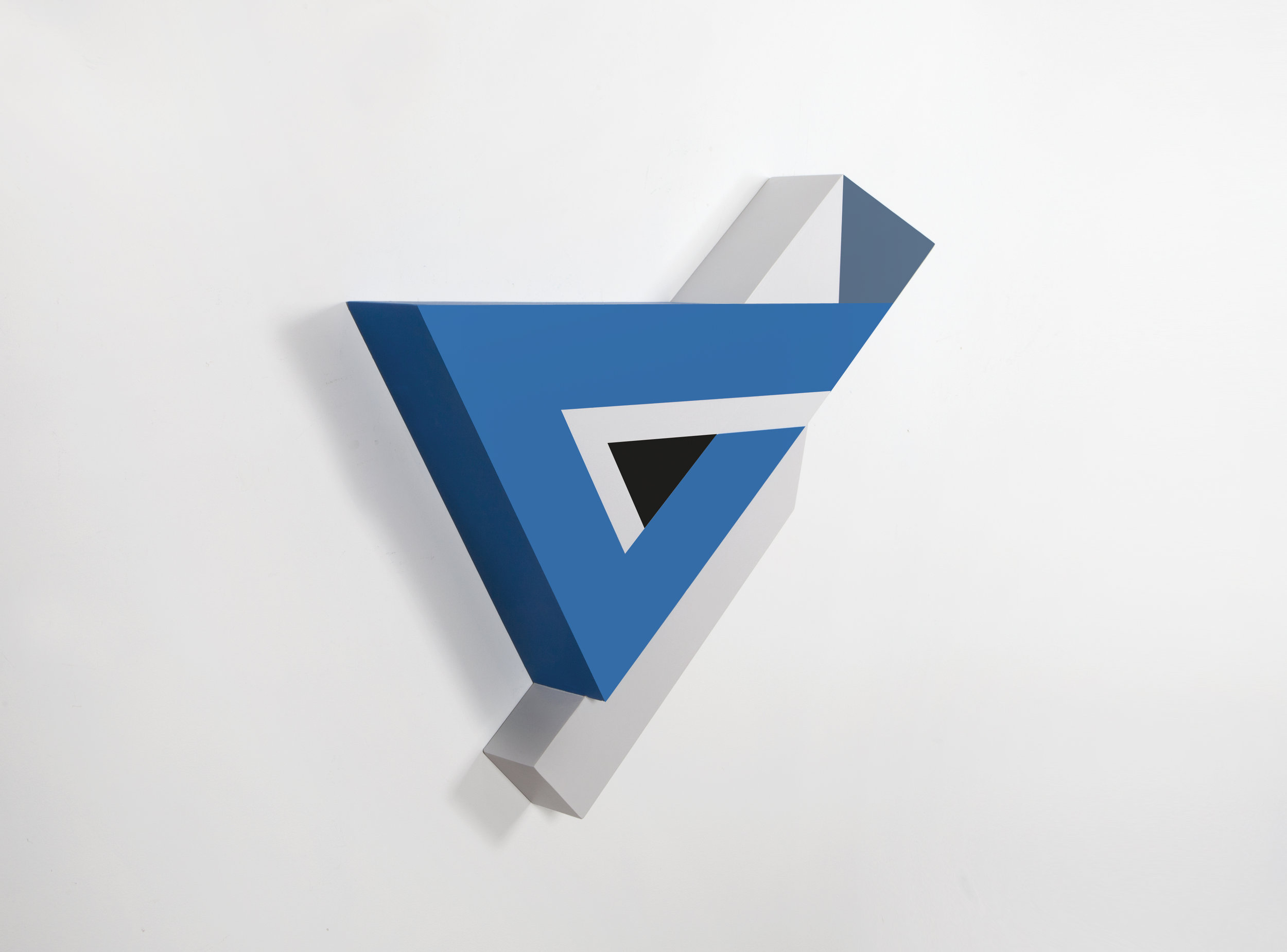 Zin Helena Song   Polygon in space #26   2015   Mixed Media on Wood   27 x 30 x 3.5 in.