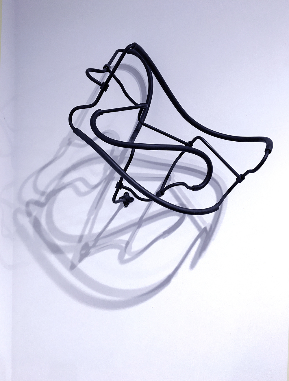 Gustavo Prado   Untitled 14 (Contortionist Series), 2016    Metal and Rubber   40.0 x 20.0 x 40.0 cm (approx.)  Edition of 5