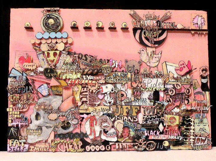 Kristian Glynn   Playtime Cavity Kid   2010-2011   acrylic on cardboard and wood   12 x 16.5 in.   16.75 x 22.75 in. (framed)