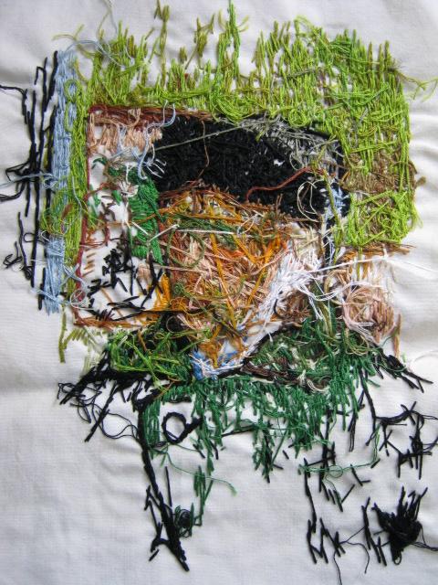 Sharmistha Kar   Knowing Him, 2014   textiles   20 x 16 inches framed