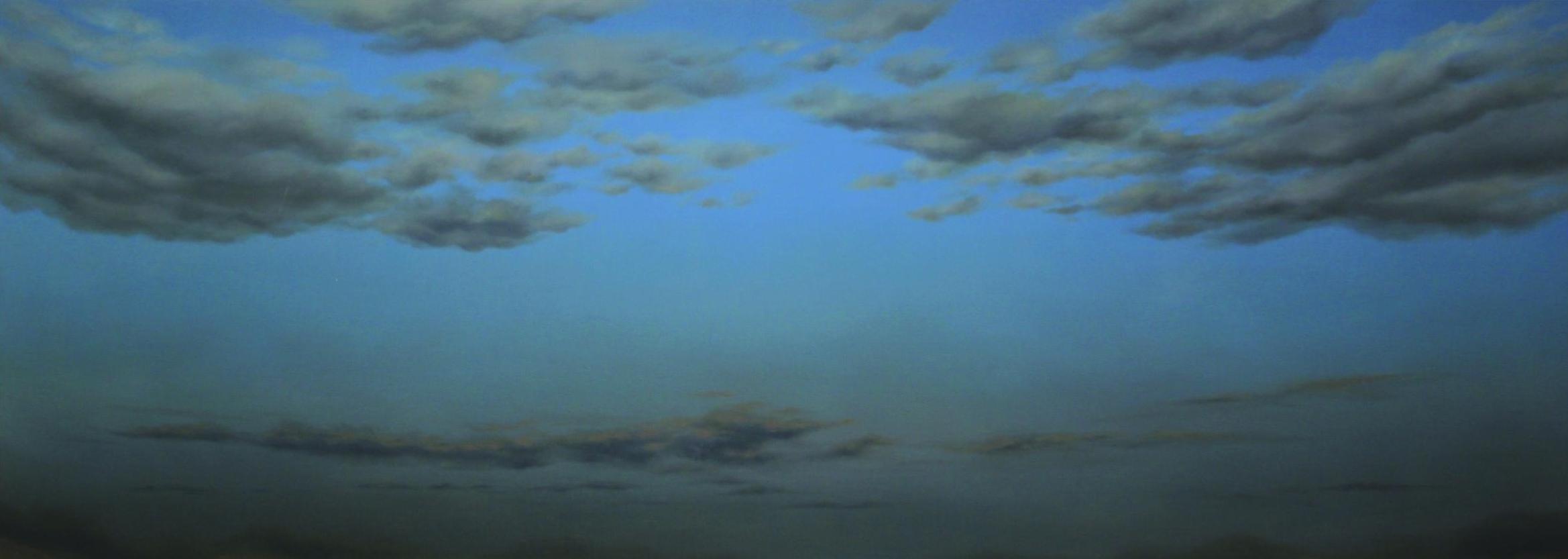Radhika Kacha   Untitled   2017   Oil on Canvas   52 x 140 in.