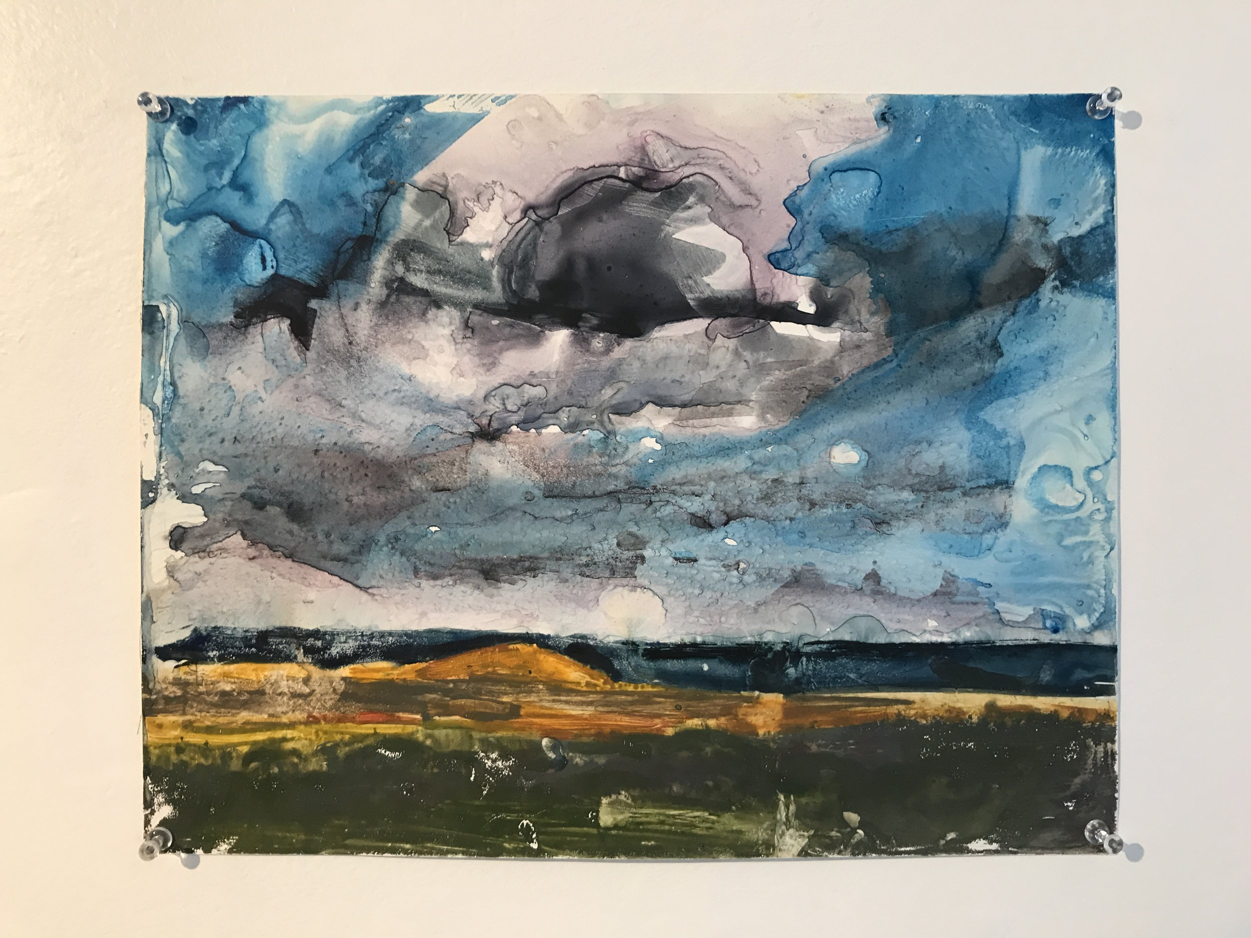Airplane cloud | 2014 | watercolor on yupo | 11 x 14 in.