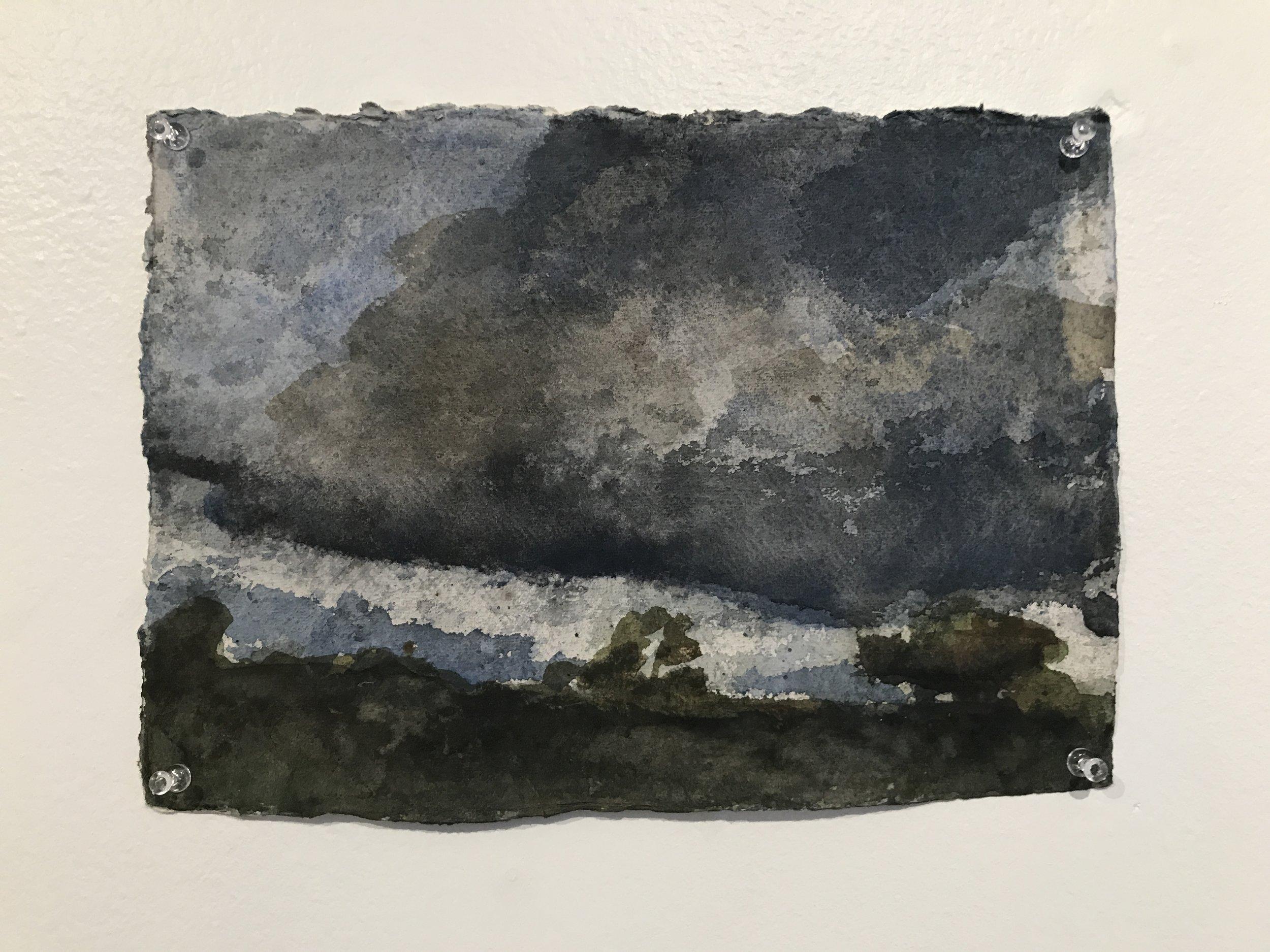 Bleak Mesa | 2010 | watercolor on khadi paper | 9 x 12 1⁄4 in.