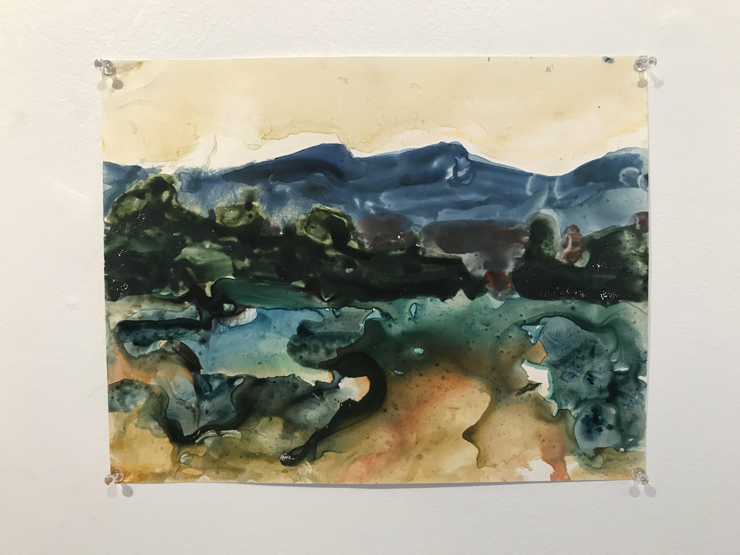 Fluid Mesa | 2010 | watercolor on yupo | 11 x 14 in.