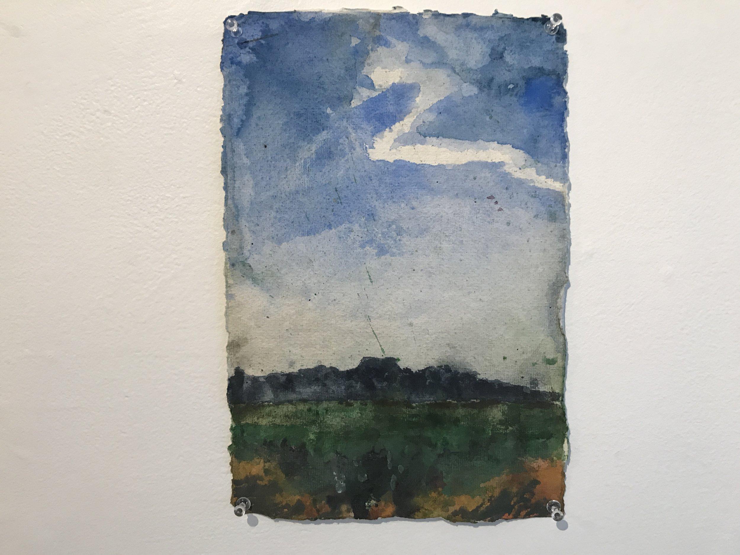 Z cloud | 2014 | watercolor on khadi paper | 12 1⁄2 x 8 1⁄2 in.