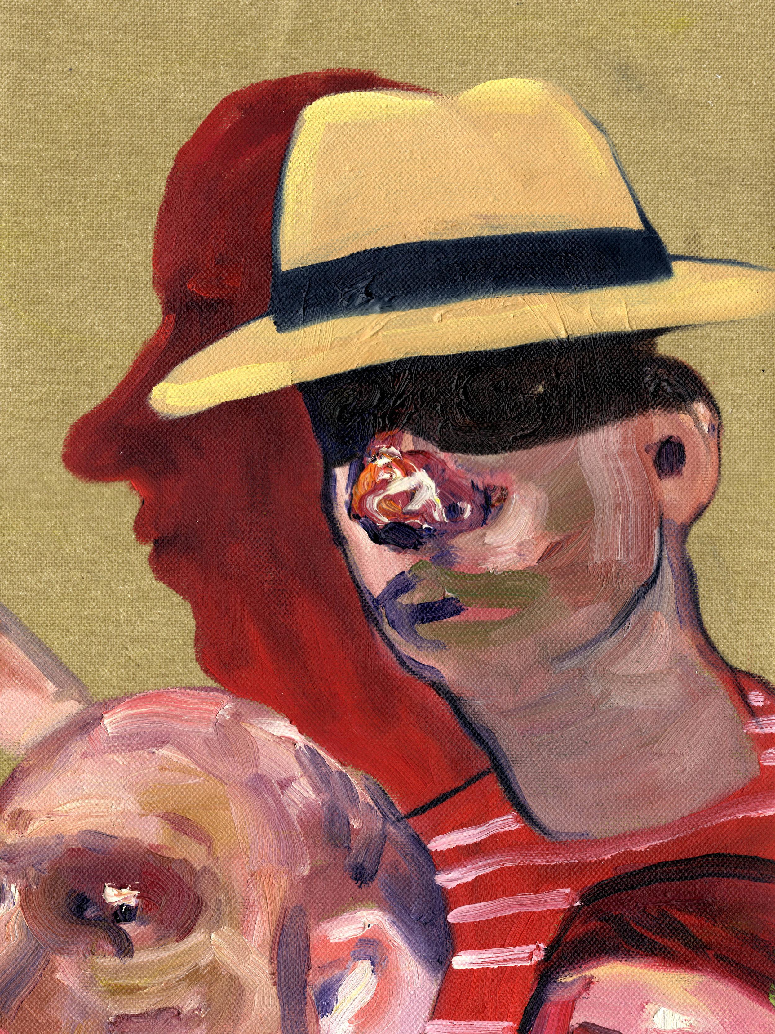 Sombrero Aguadeño, 2017 Oil on Canvas 12 x 9 in. [30.5 x 22.9 cms].jpg