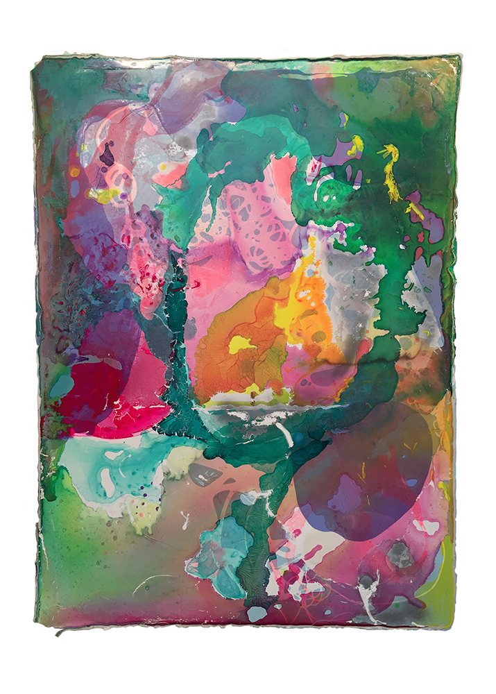 Adrian Kondratowicz, don't look past the obvious, 2016 49 x 36 in.  acrylic glaze on bengalis medium