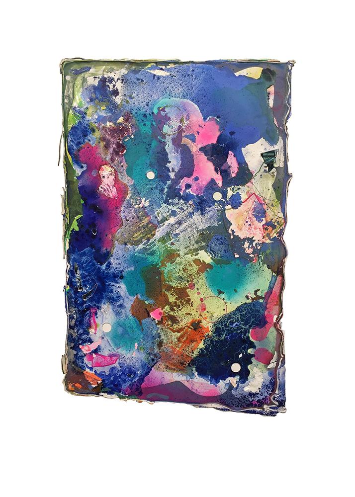 Adrian Kondratowicz, the source is within You, 2018 36 x 23 in.  acrylic glaze on bengalis medium