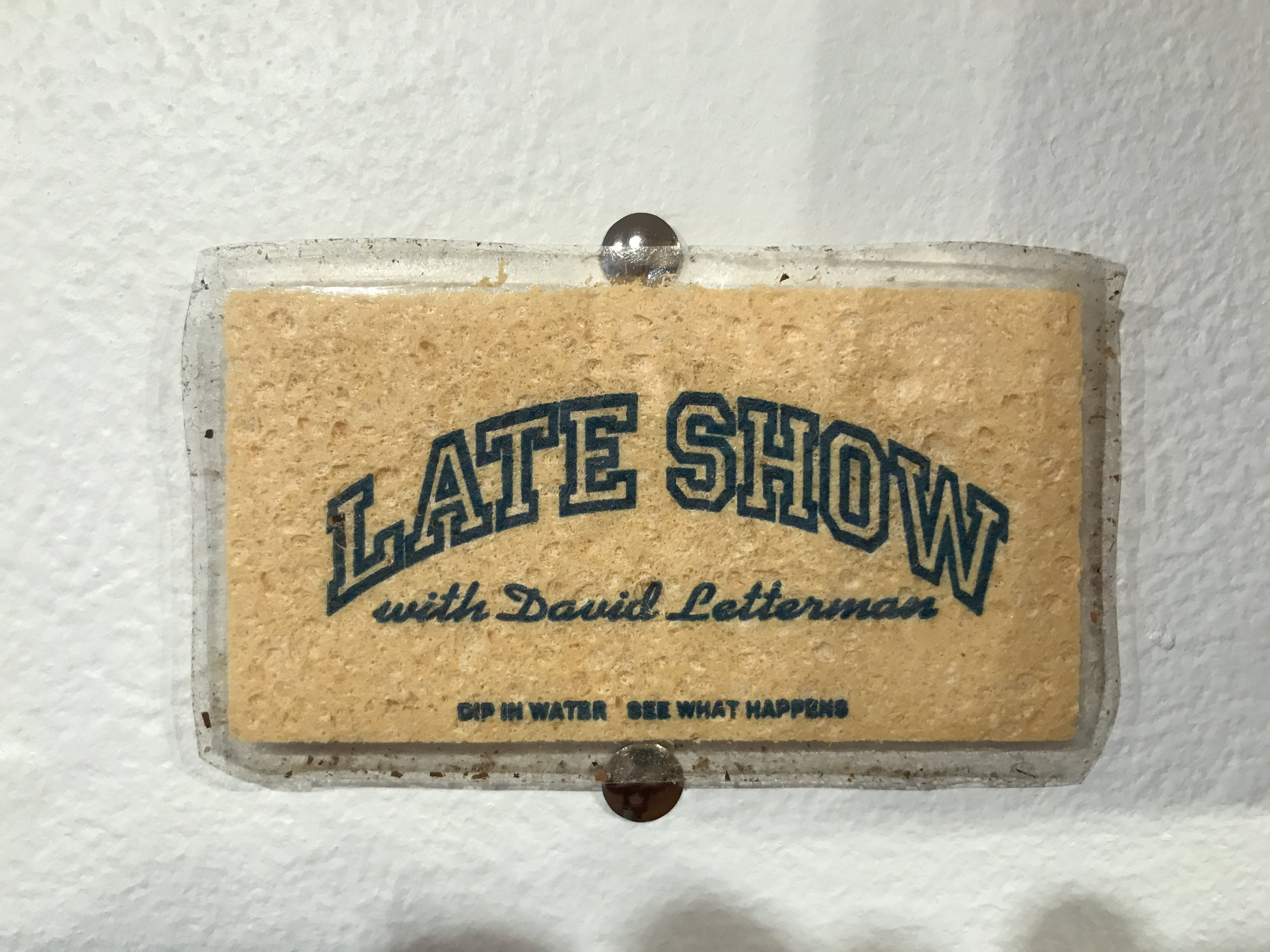 Late Show with David Letterman Sponge (Myles, Stagehand)