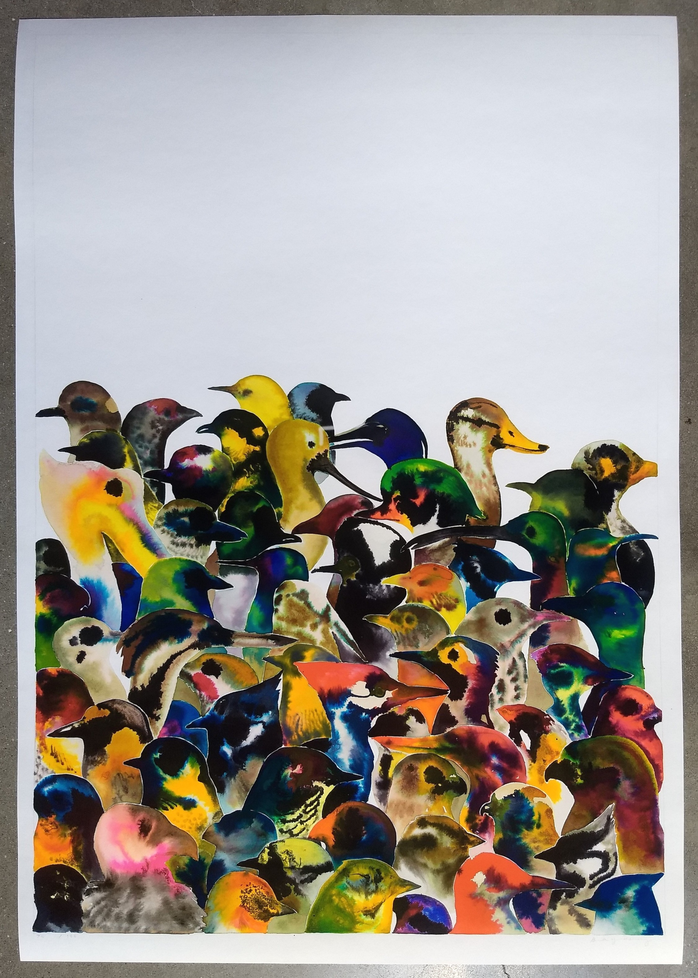 Boy Kong, bird crowd, 2019 $200 + includes free domestic shipping