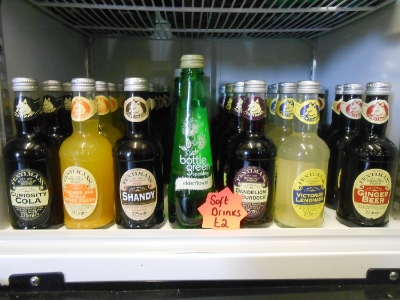 Soft Drinks £2  Curiosity Cola, Mandarin & Seville Orange Jigger, Shandy, Elderflower, Dandelion and Burdock, Victorian Lemonade and Ginger Beer