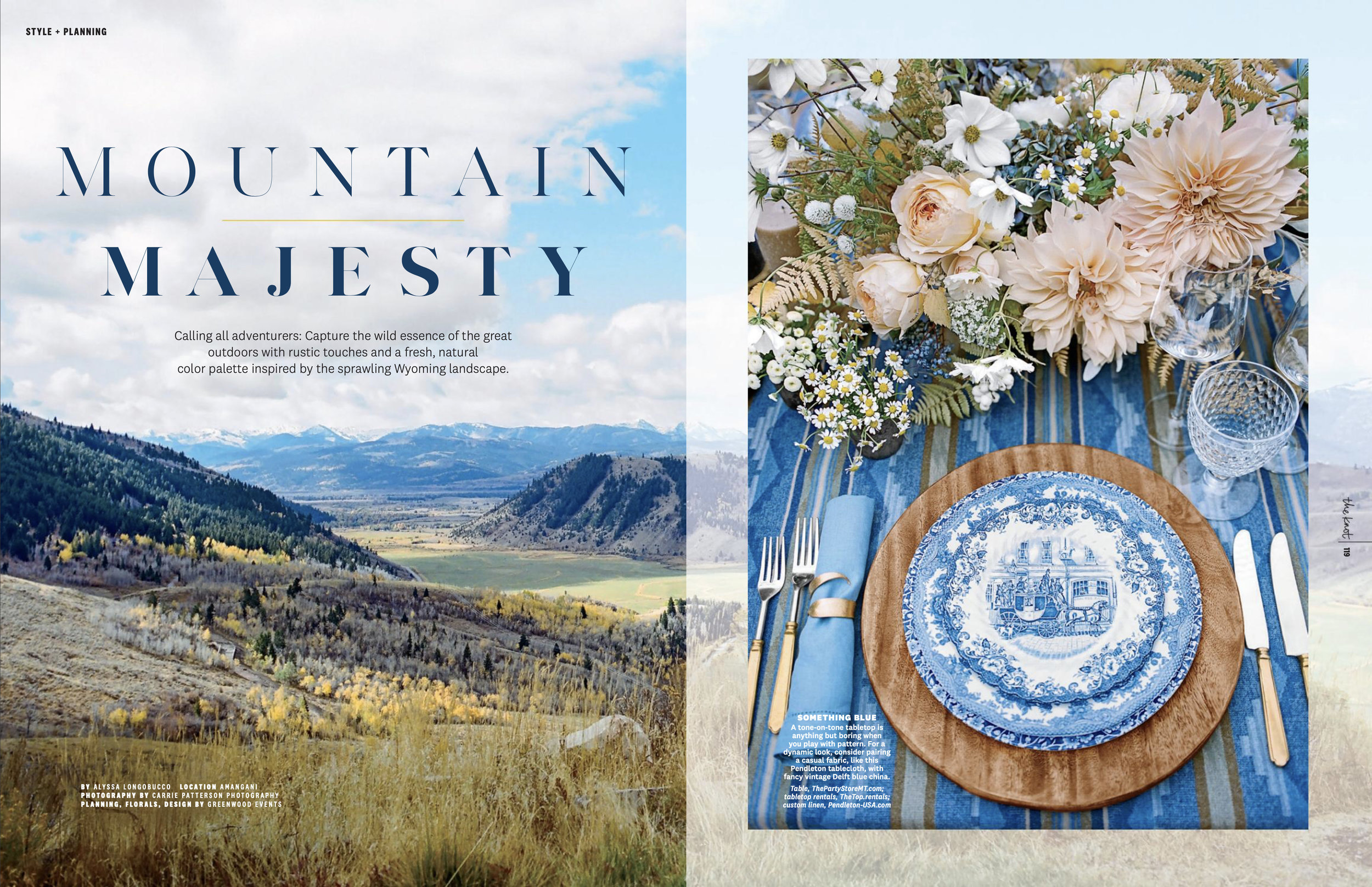 Featured in The 2019 Fall Issue of The Knot's Style + Planning Section