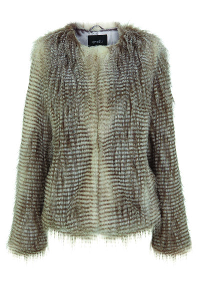 Furry Floss Faux Fur Jacket. Available at  The Dressing Room